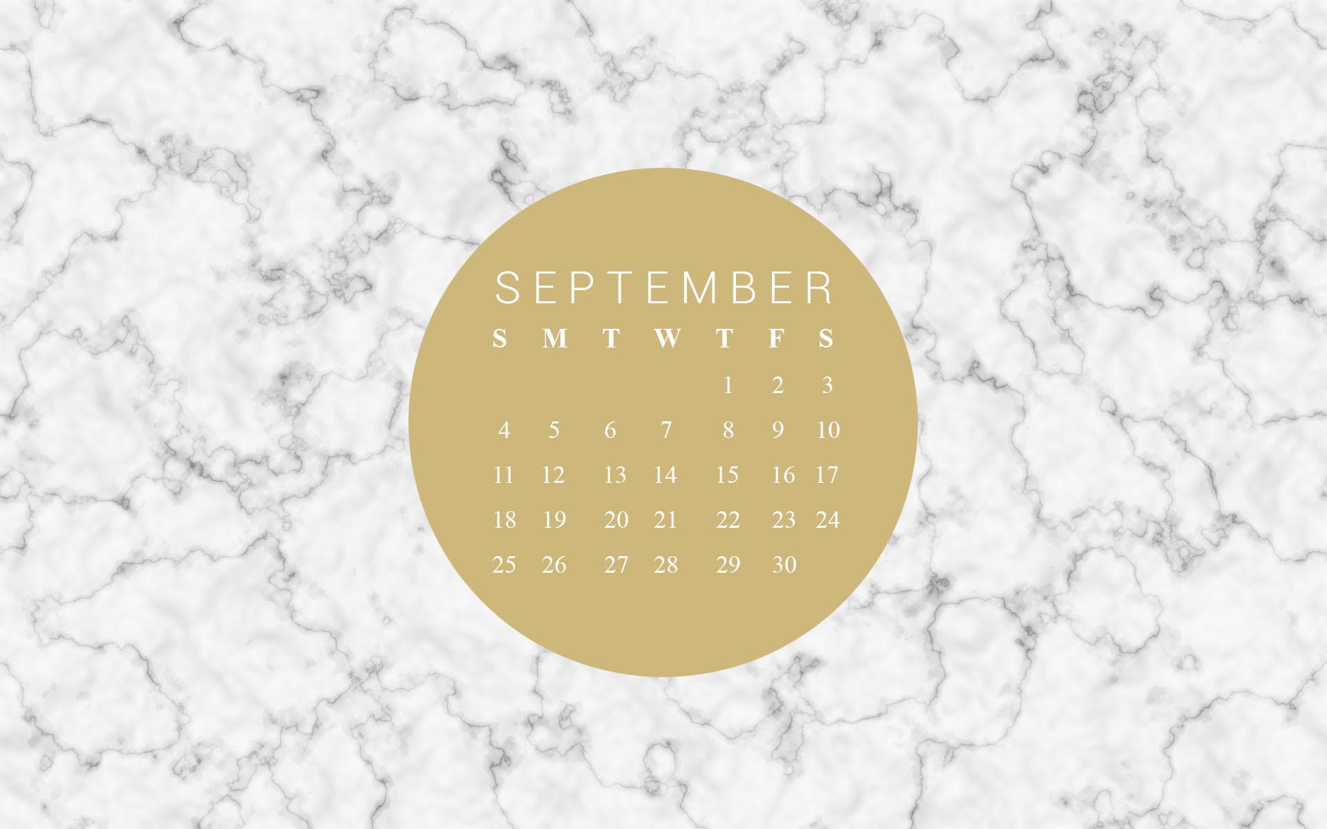 Marble & Gold Dot Calendar