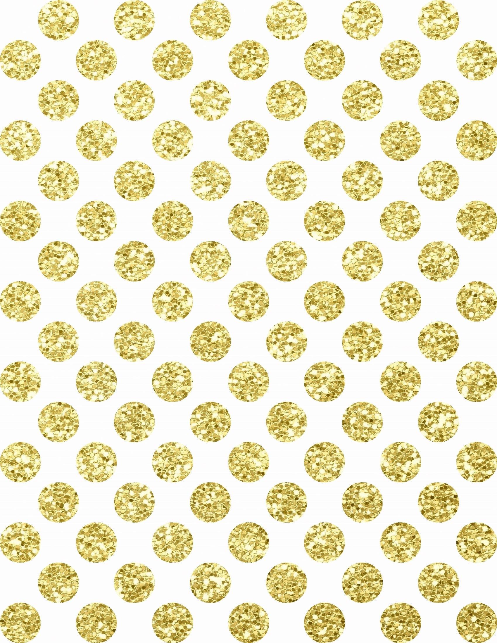 Gold Glitter on White