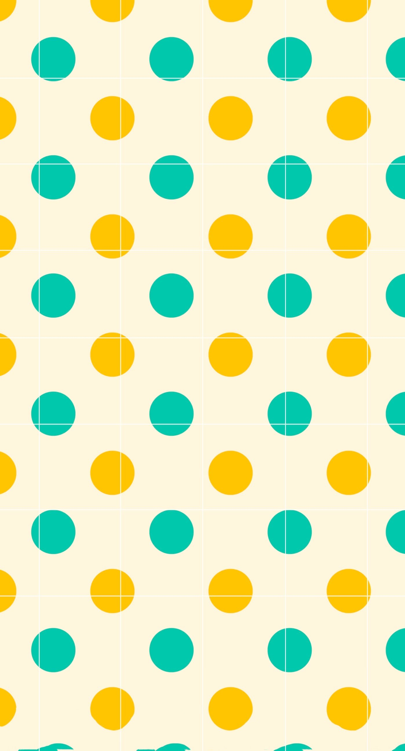 polka dot green orange shelf borders wallpapersc iphoneplus with polka dot  wallpaper.