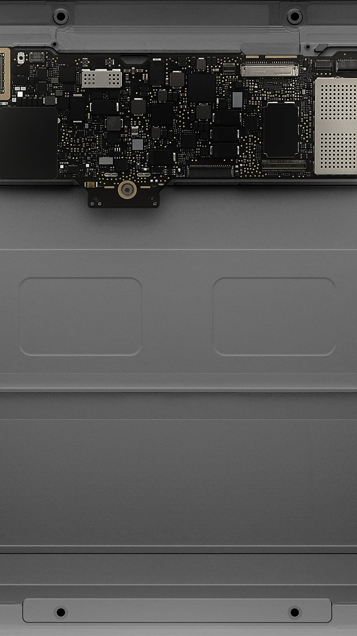 Inside Apple Mackbook Slate Gray Art