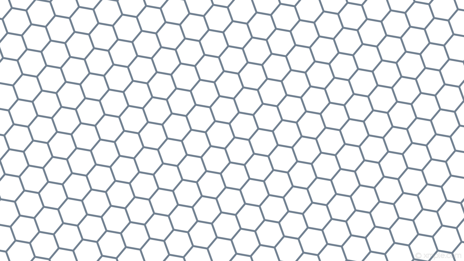 wallpaper beehive white hexagon honeycomb grey slate gray #ffffff #708090  diagonal 20° 8px