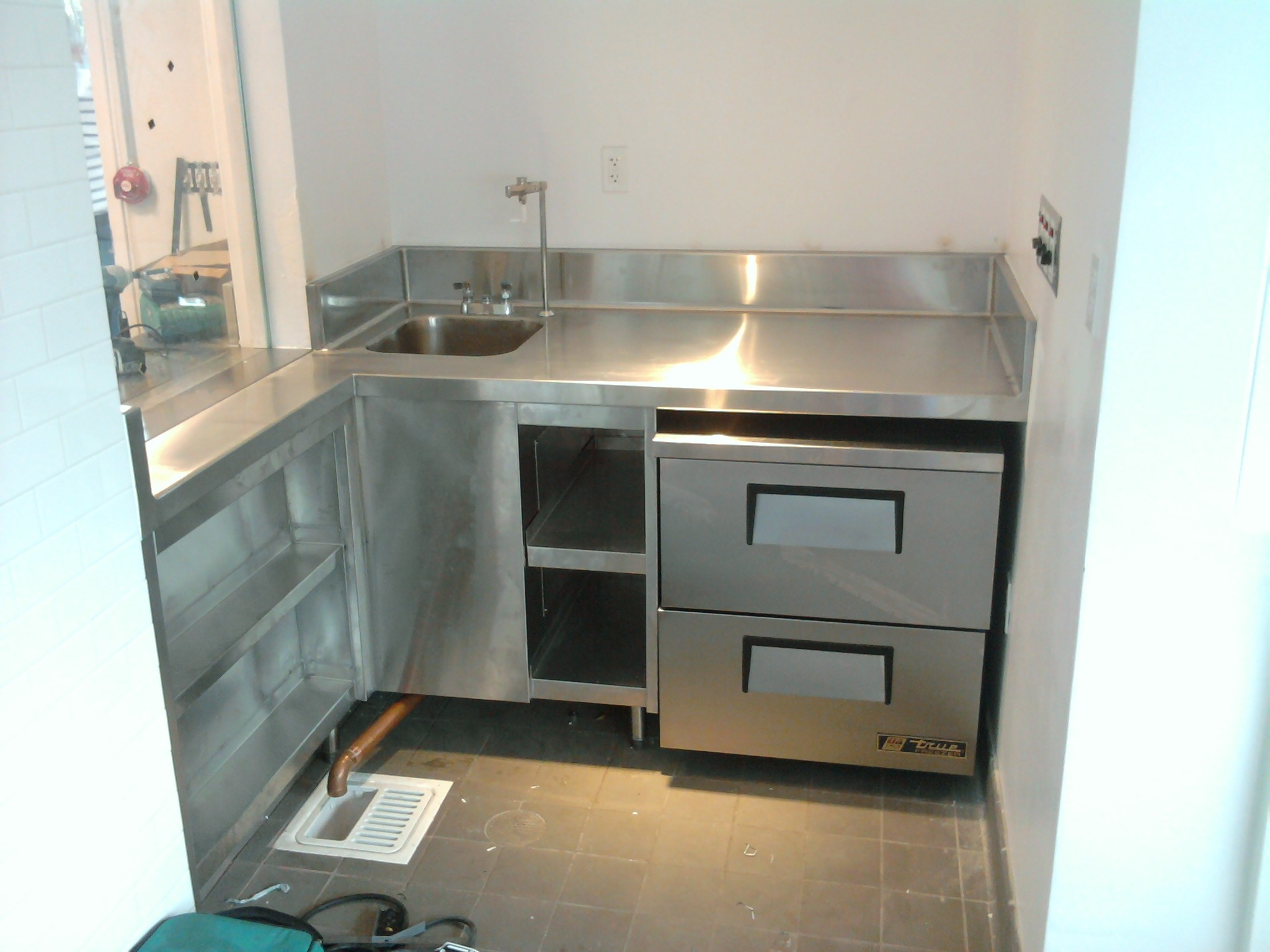 … Home Design : Textured Stainless Steel Countertops Subway Tile Basement  Brilliant as well as Stunning textured …