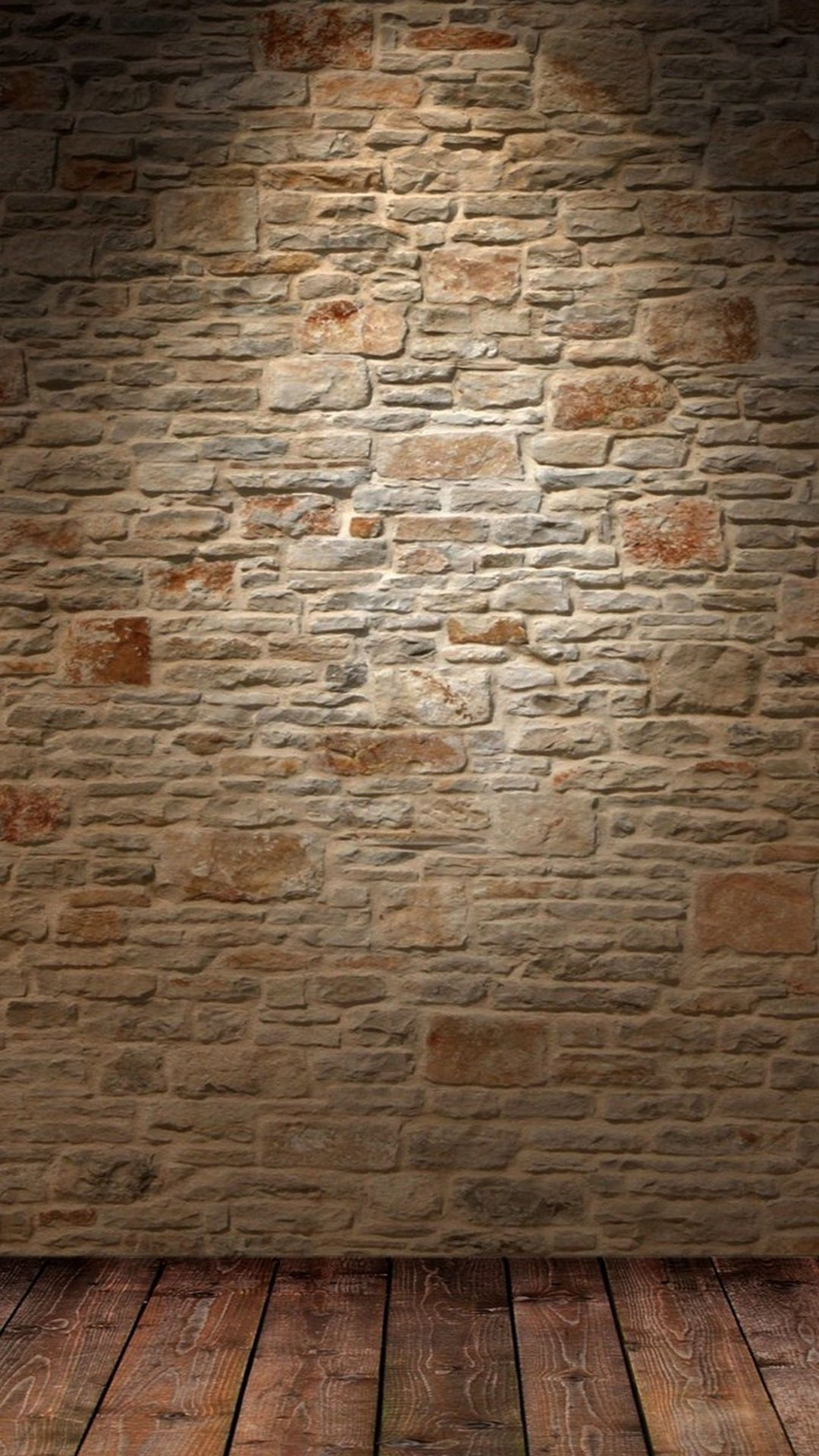 Brick wall and wood floor Digital Art mobile wallpaper