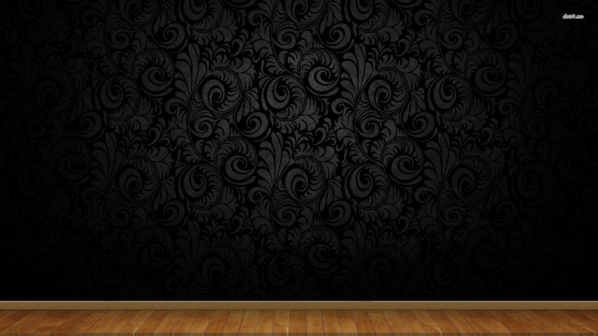 Wallpaper · Swirly wall pattern and wood floor …