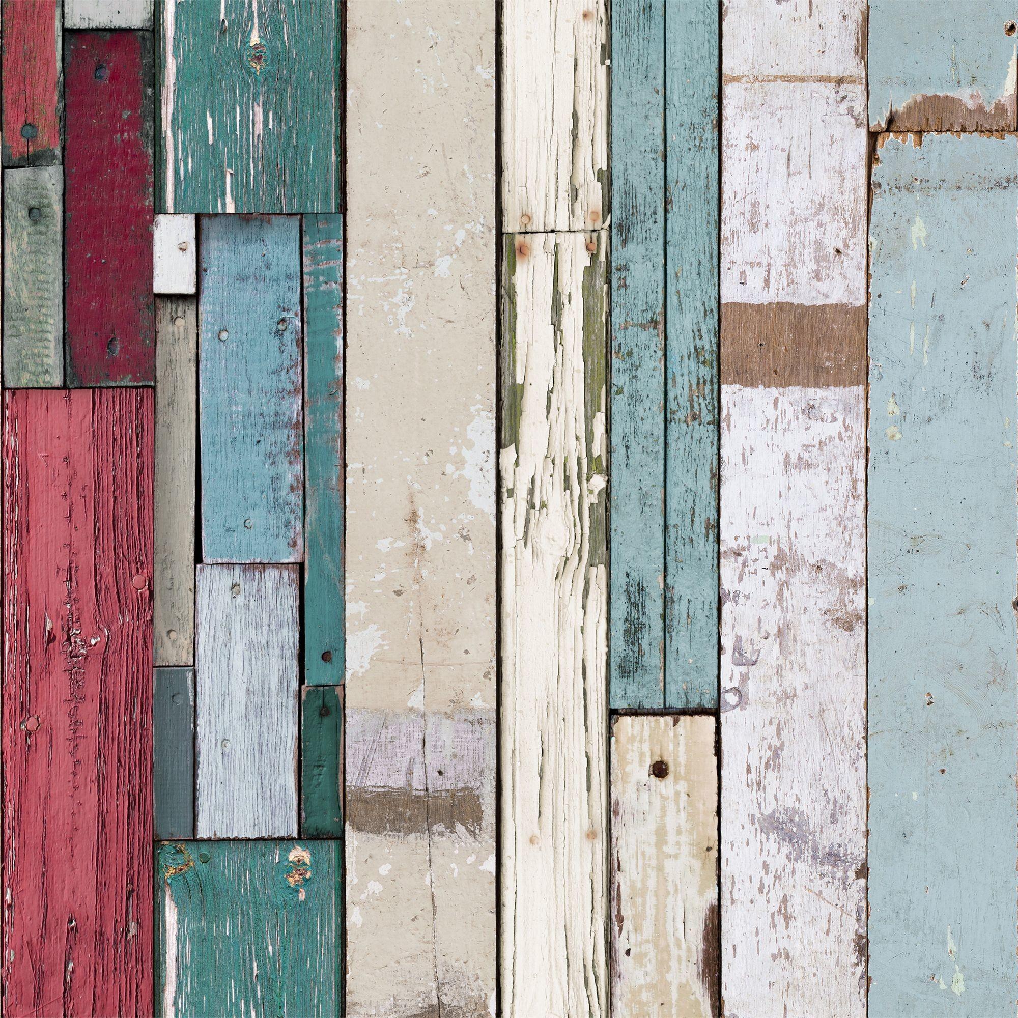 Muriva Wood Plank Stripe Wallpaper