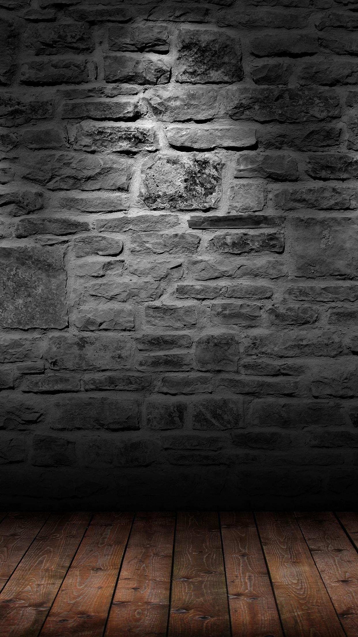 Dark Brick Wall Wood Floor Android Wallpaper …