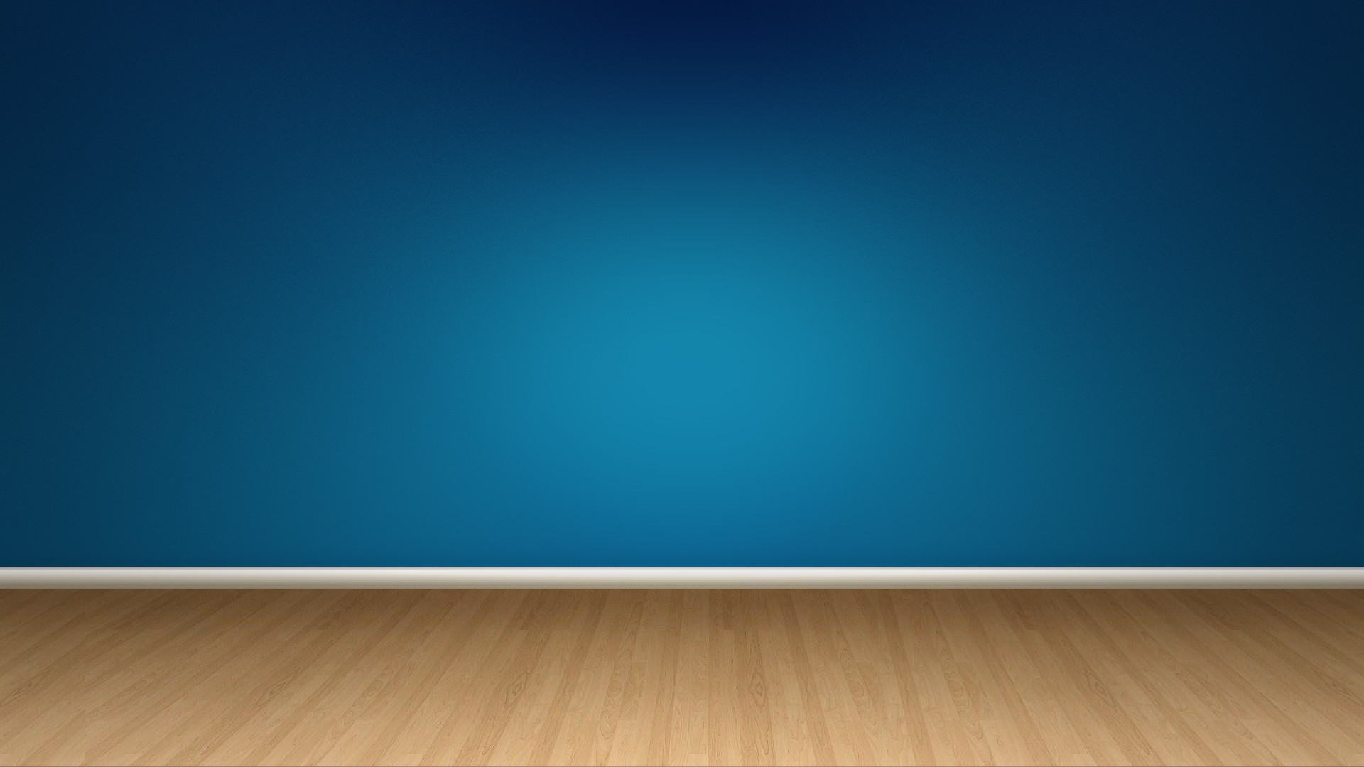 Blue Wall And Wood Floor …