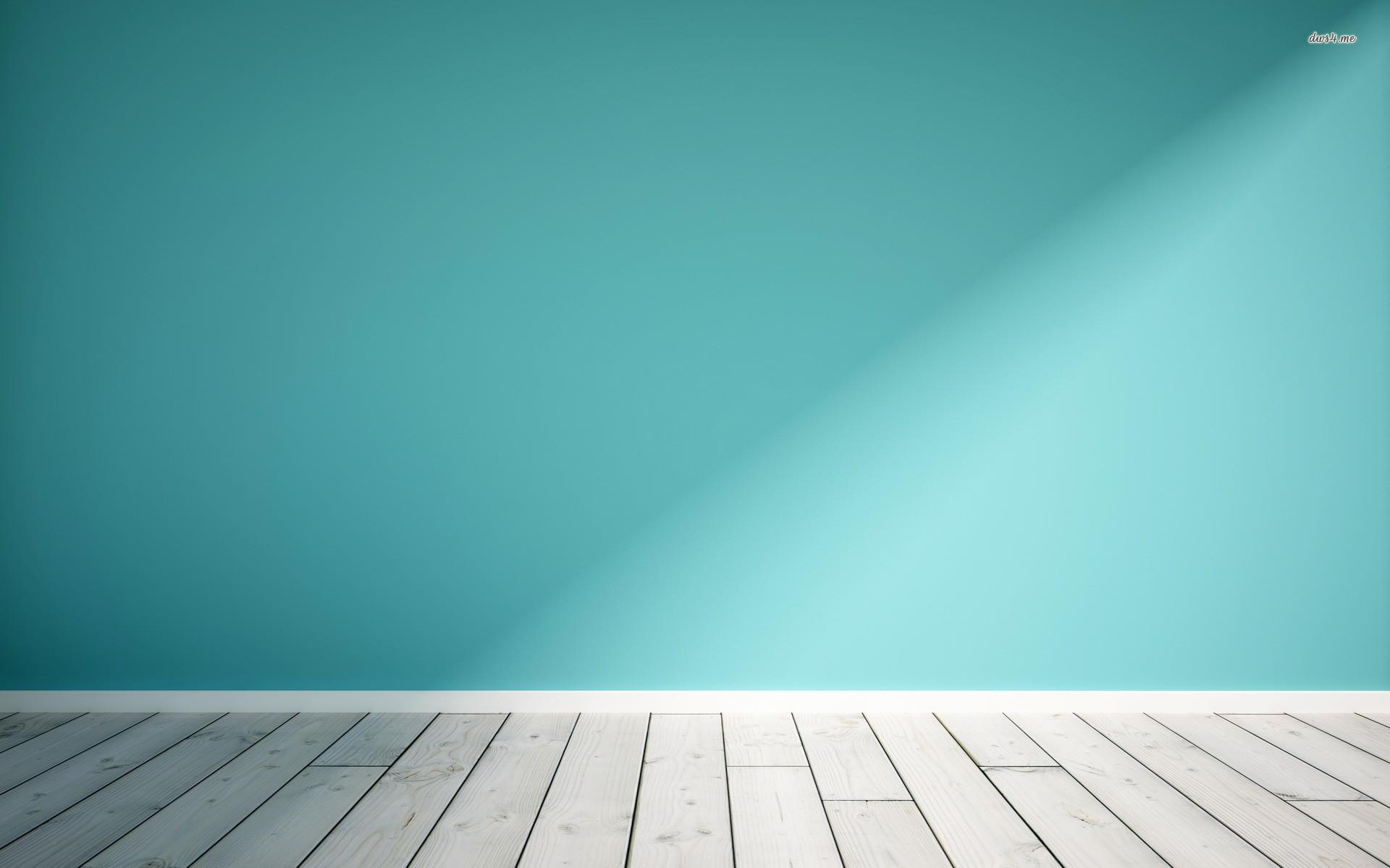 Wooden floor and blue wall wallpaper – Digital Art wallpapers – #48705