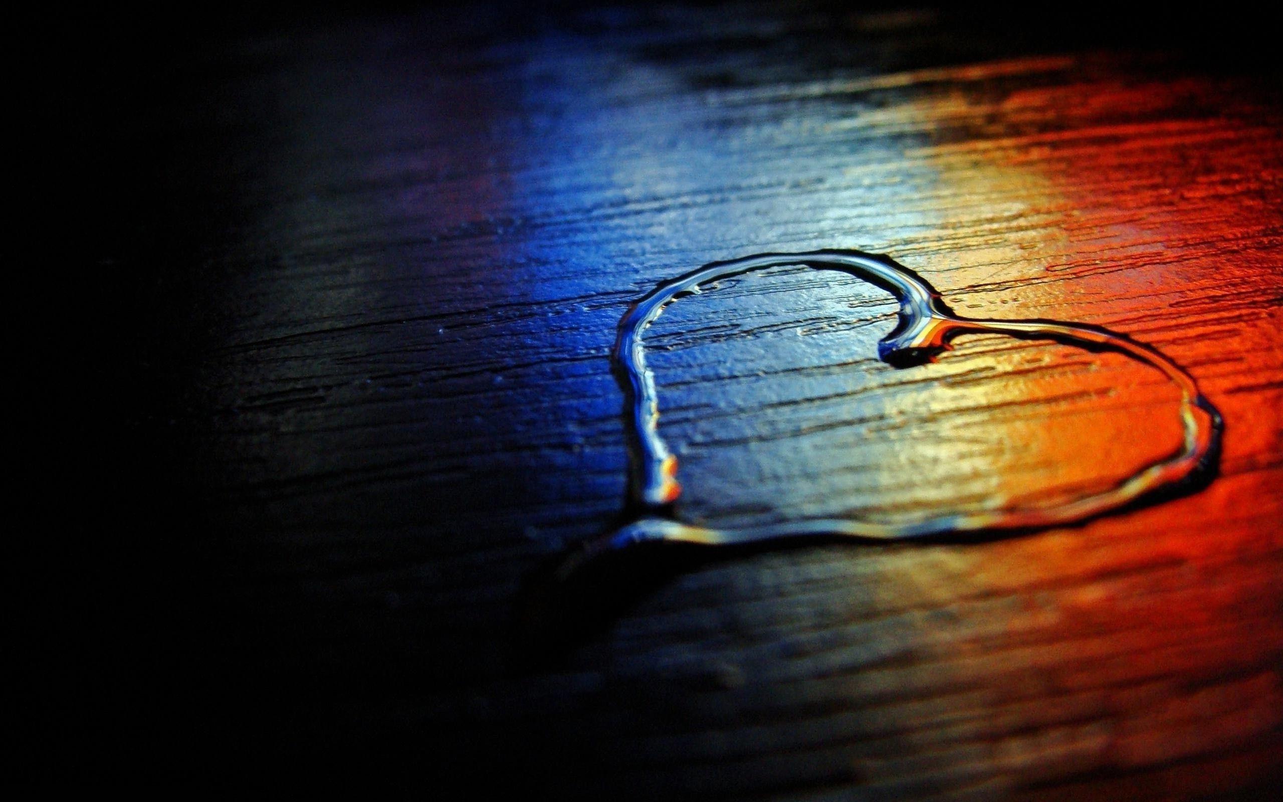 Heart, rainbow, wood floor, water, love, photography, desktop wallpaper
