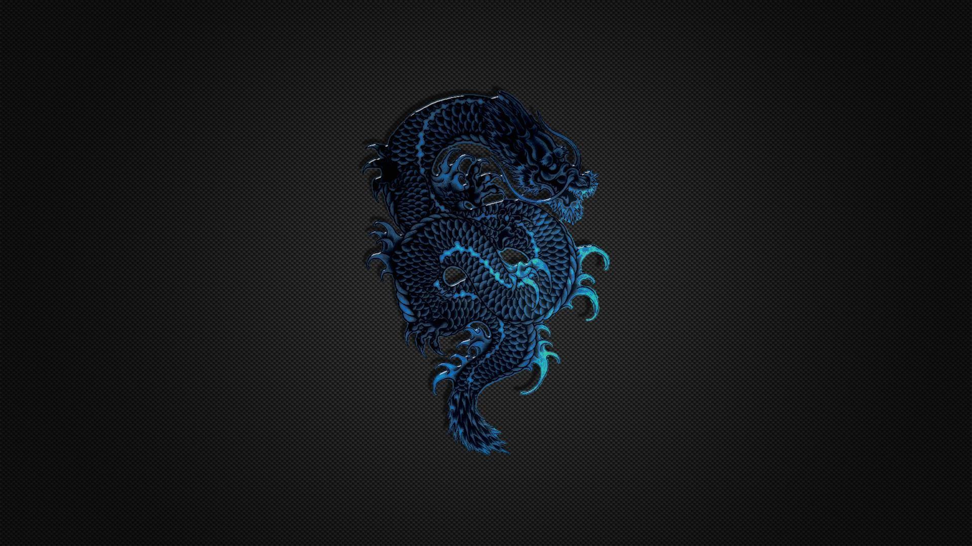 Wallpaper-hd-1080p-blue-dragon-logo-on-black-
