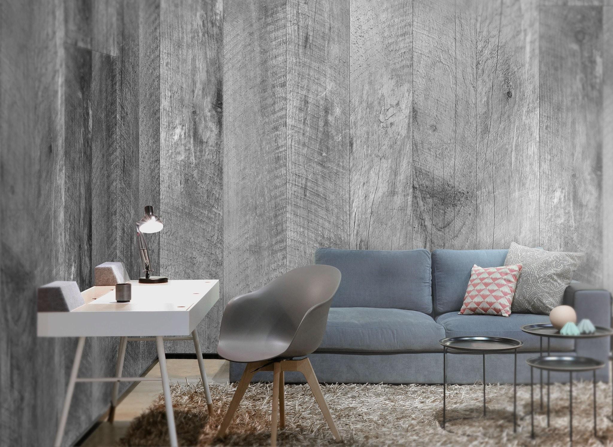 Barn Wood Gray Wallpaper