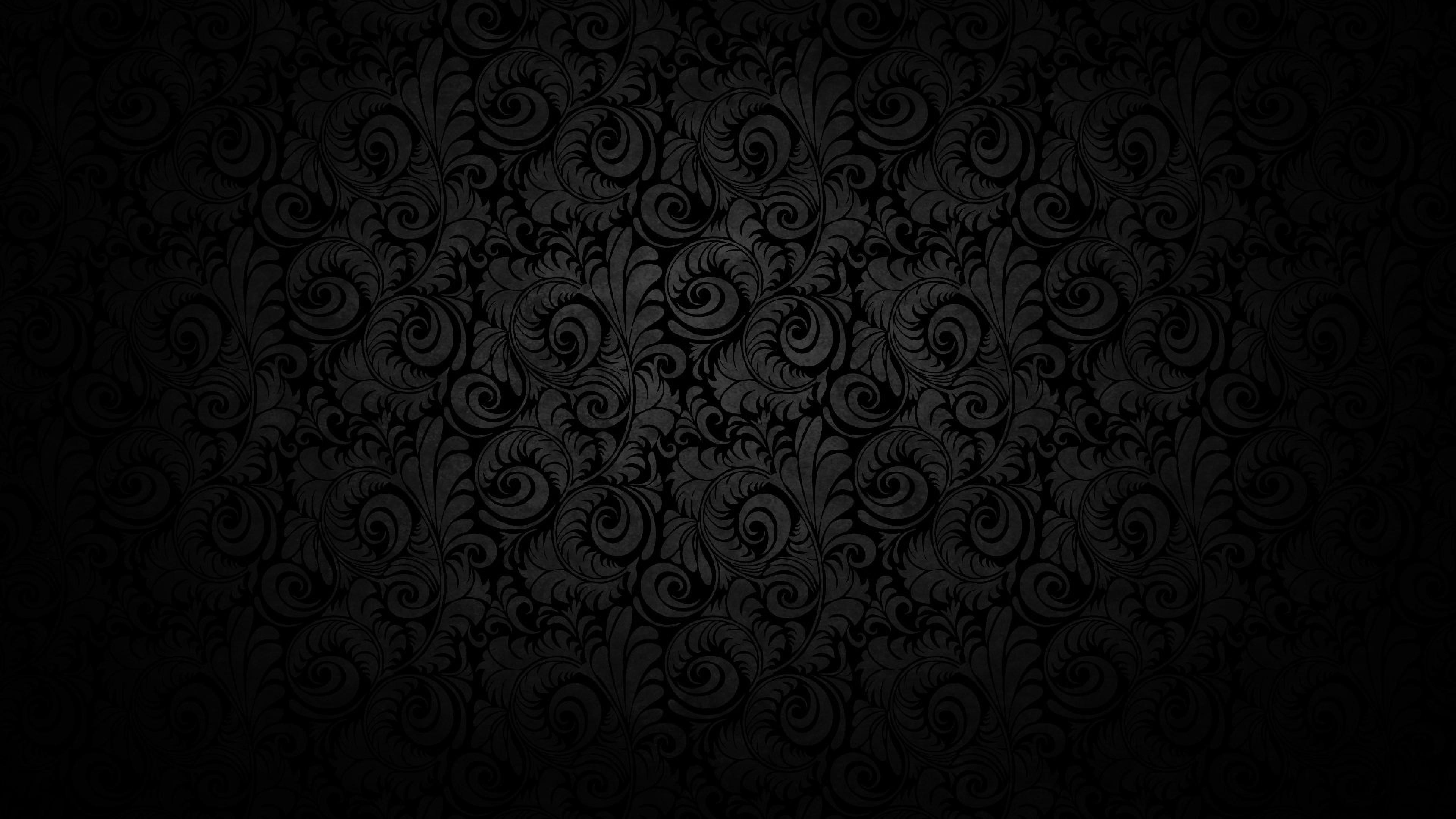 Black background, Pattern, Light, Texture Wallpaper, Background 4K .