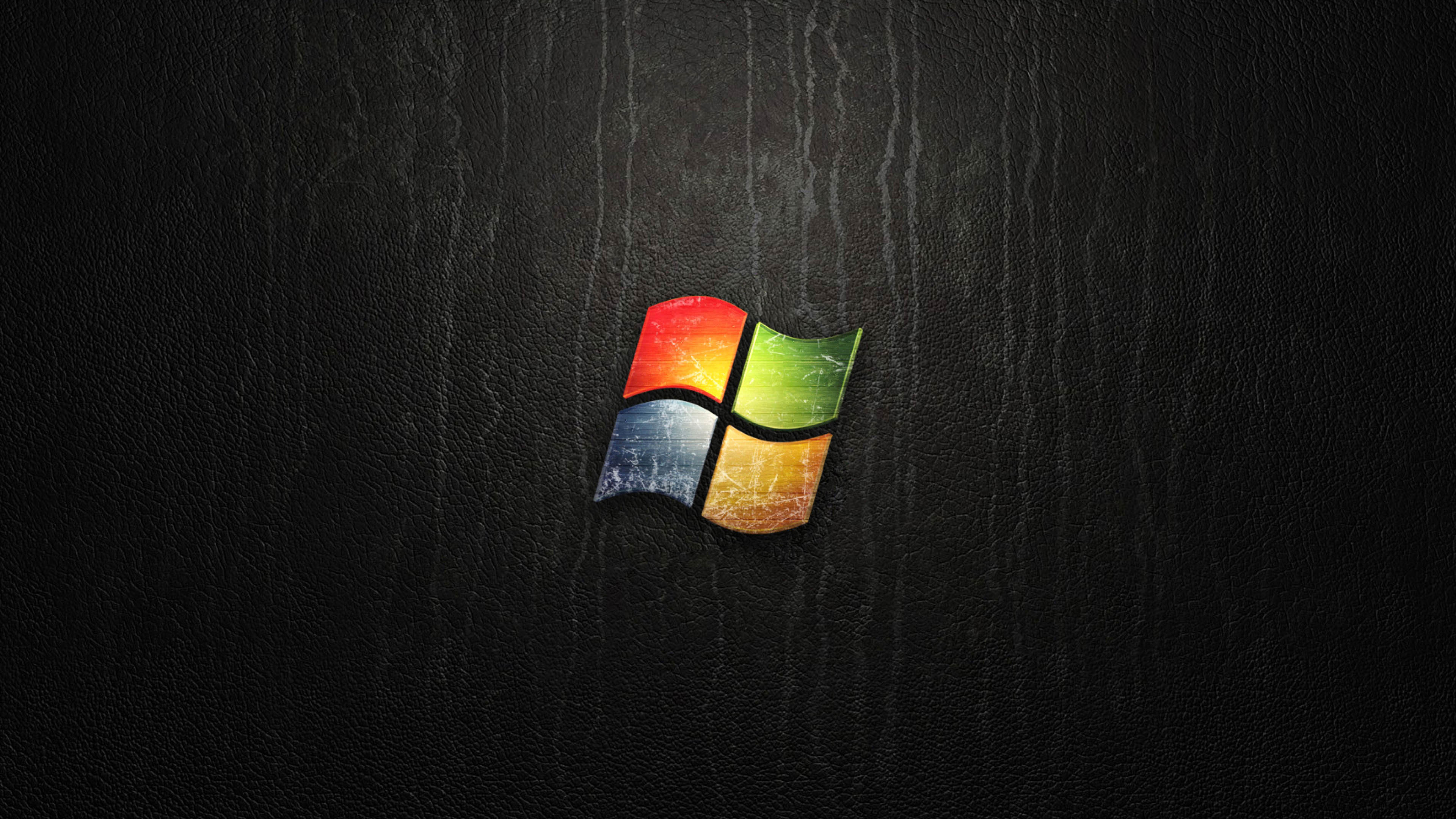 Windows Logo on Leather Texture wallpaper