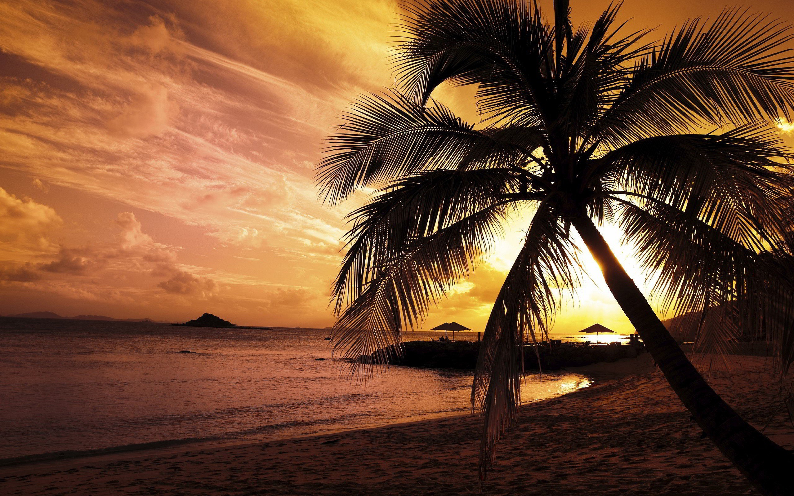 Sunset Beach Wallpaper 1080p HD