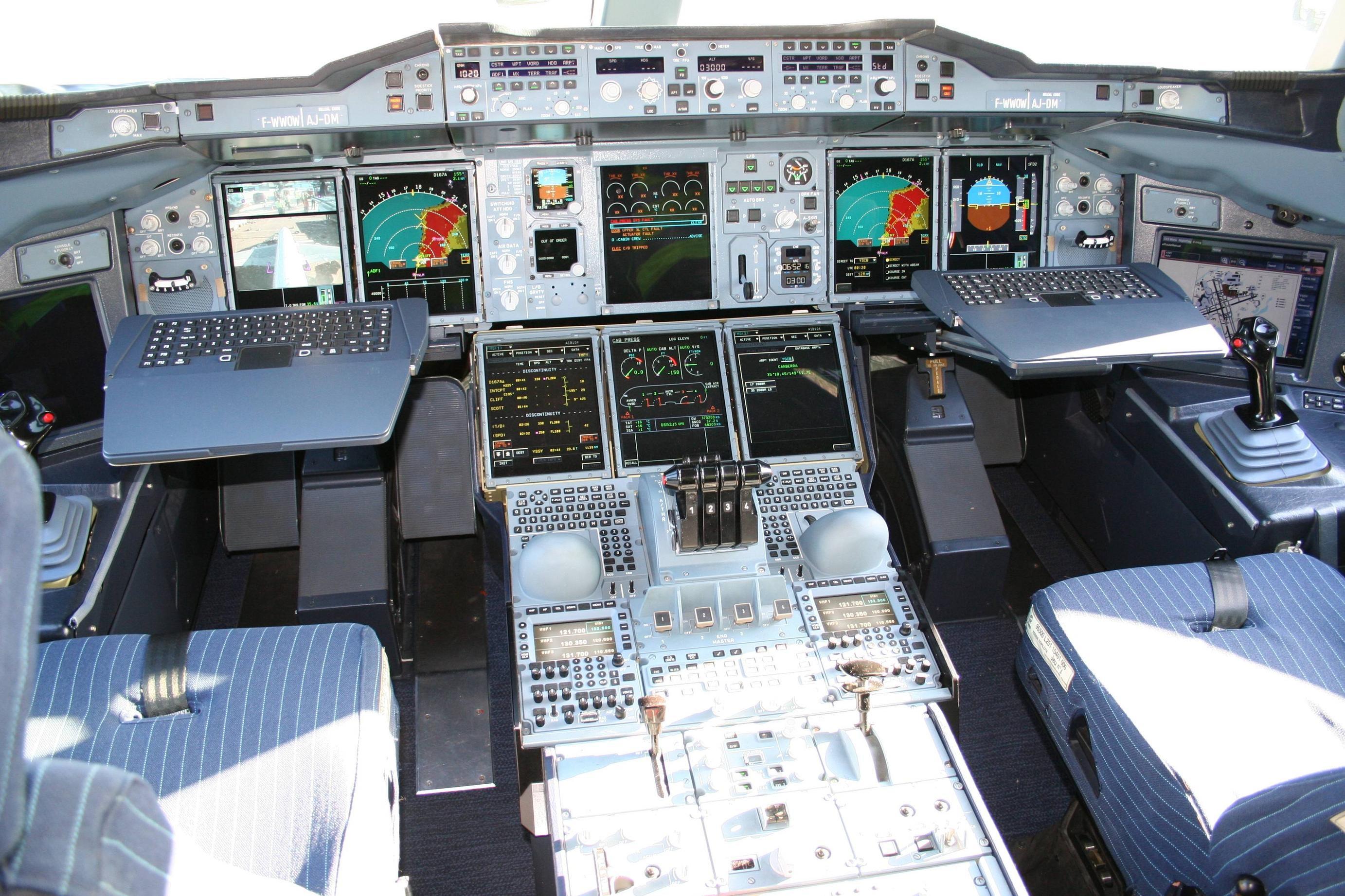Airbus Cockpit Throttle Lever Stock Photo Image 65204507