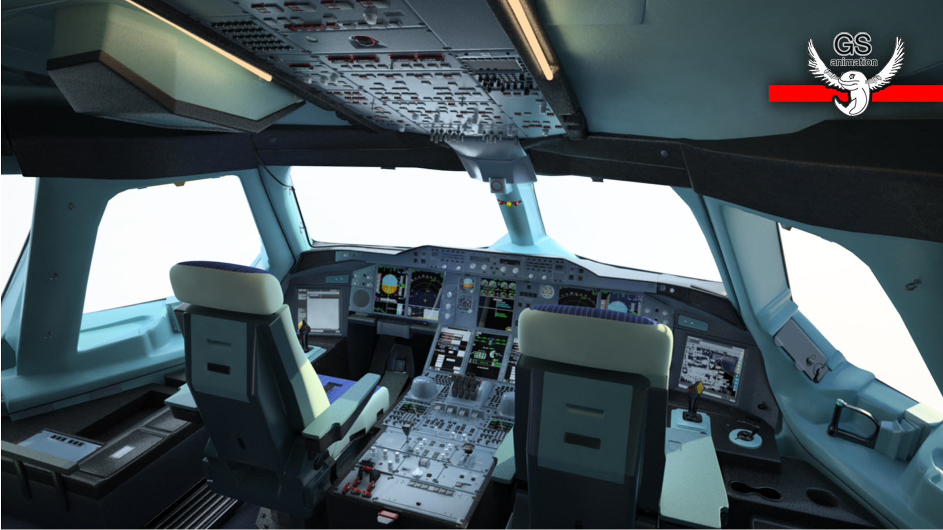 Cockpit Airbus A380 Takeoff And Landing In Dubai Airport