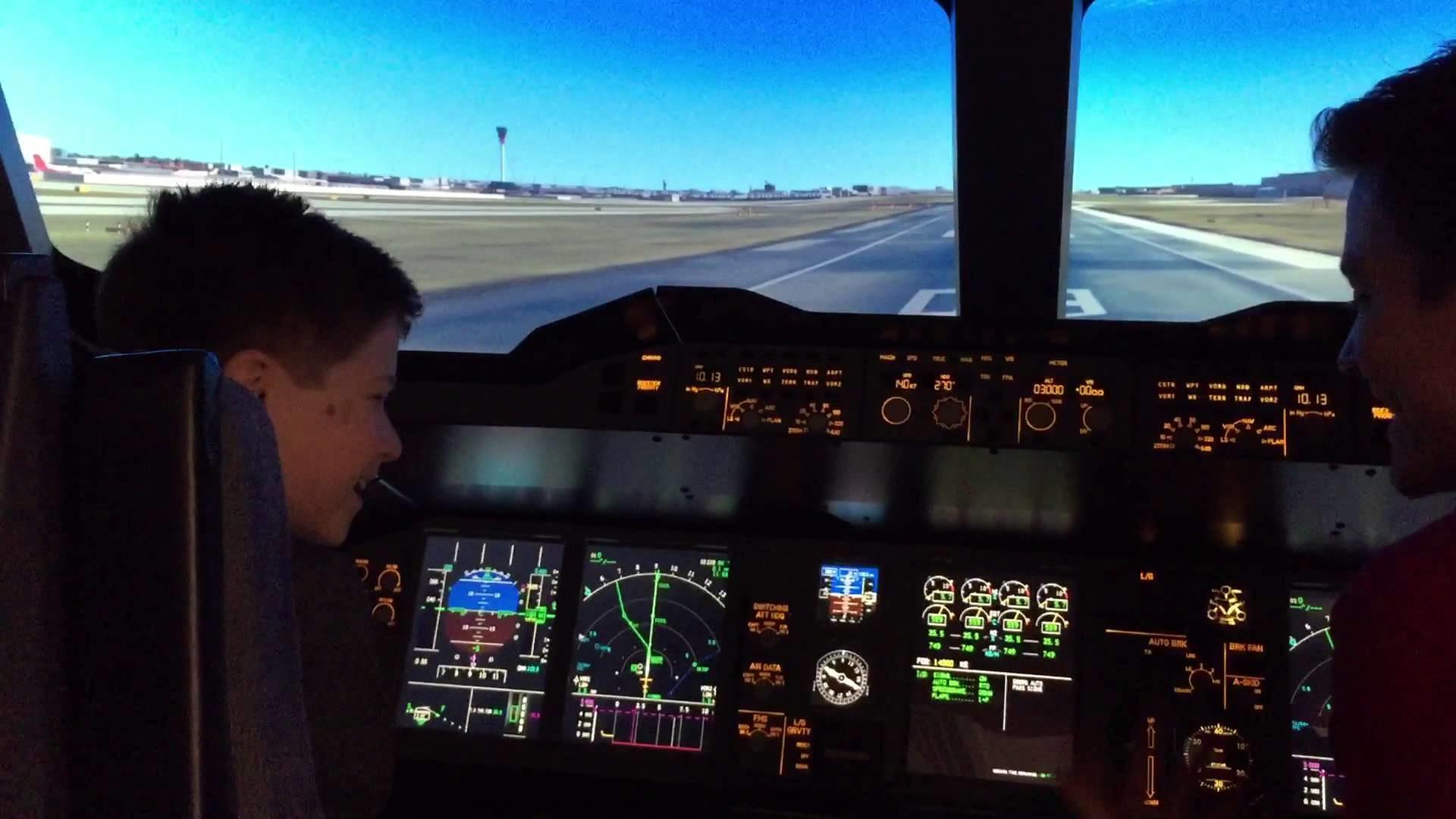Airbus A380 simulation
