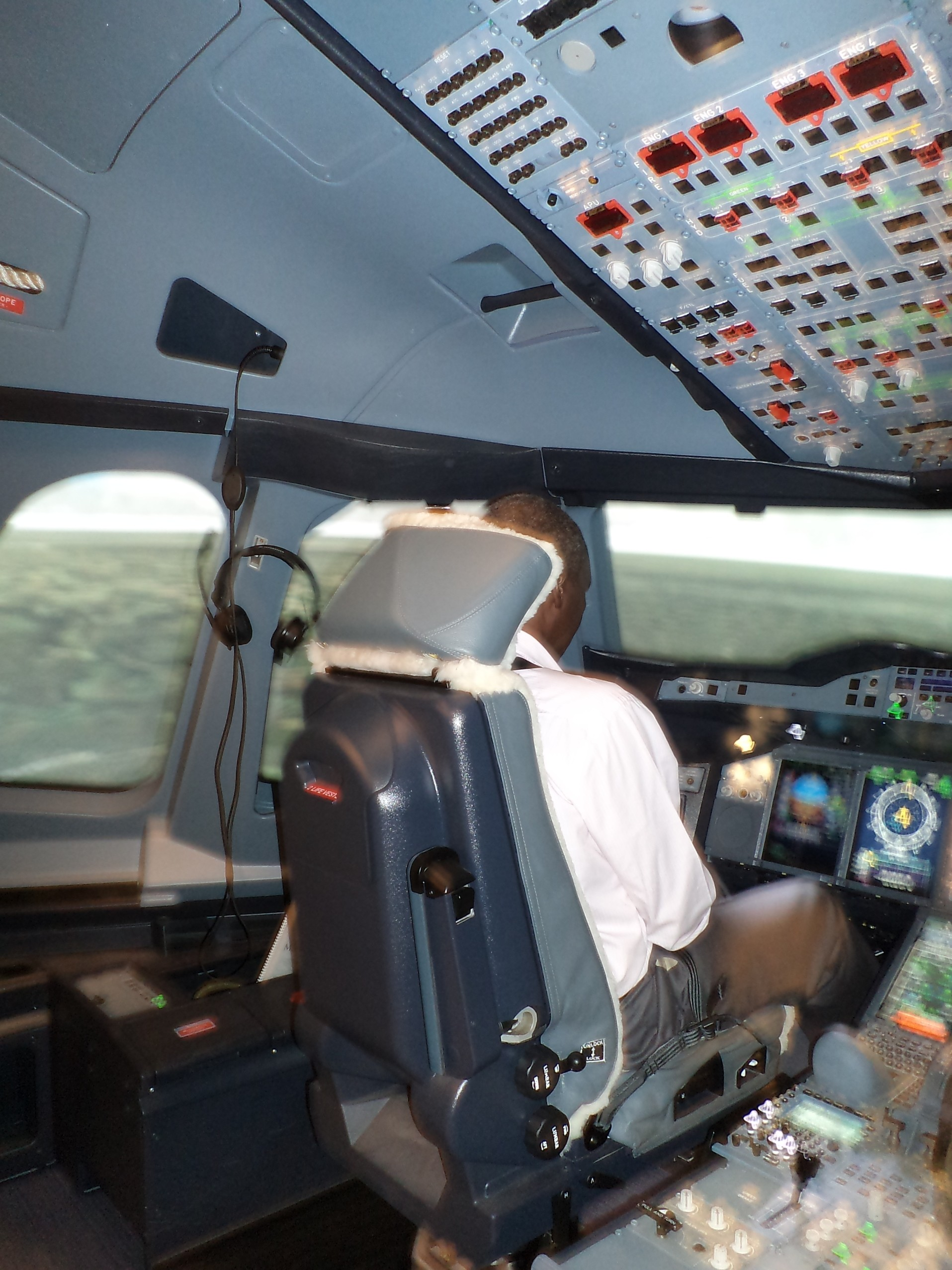 Airbus A380 Cockpit Stock Images Royalty Vectors
