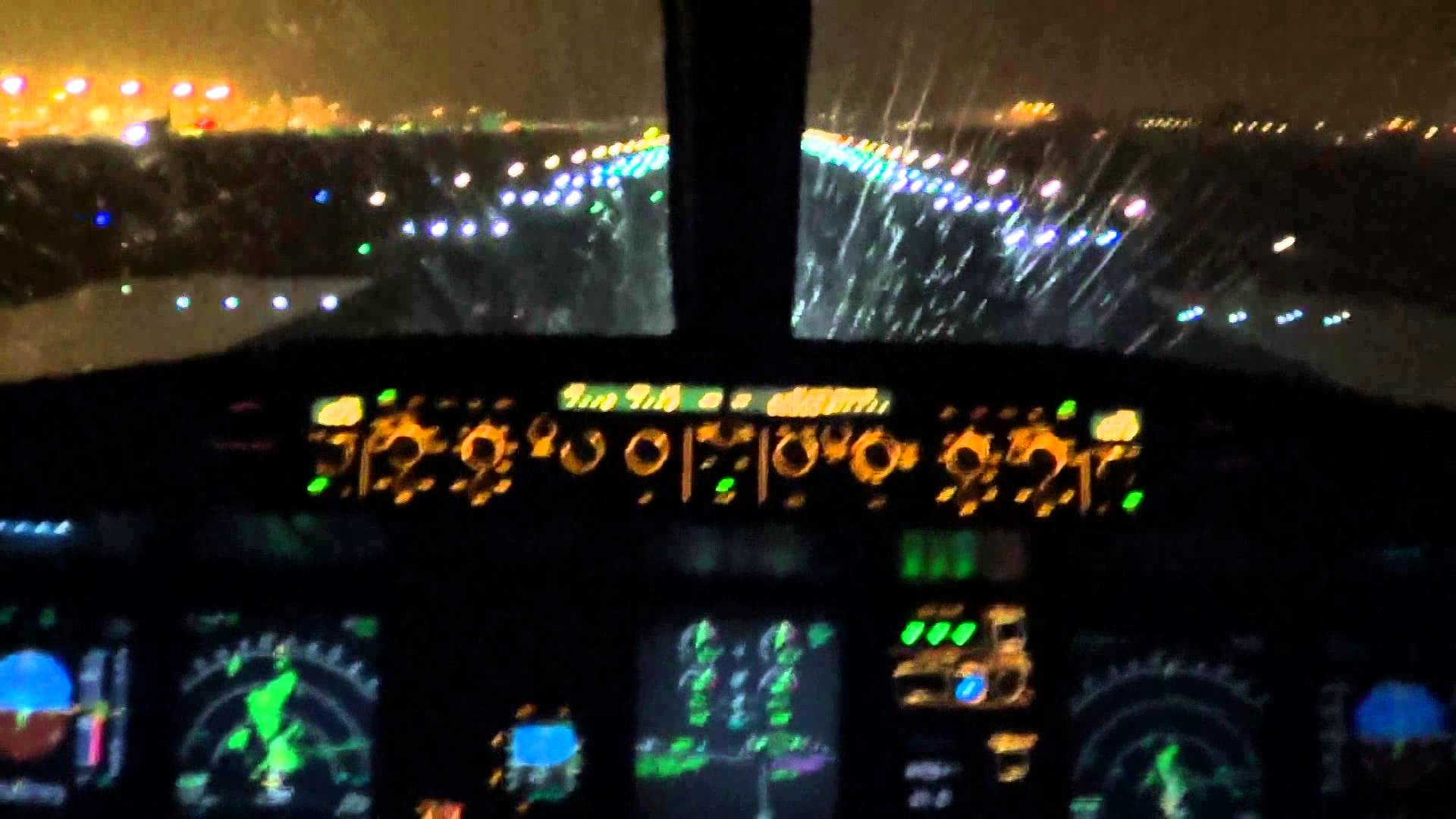 [Cockpit view] Brussels Airlines Airbus A319-111 rainy night takeoff at  Brussels – YouTube