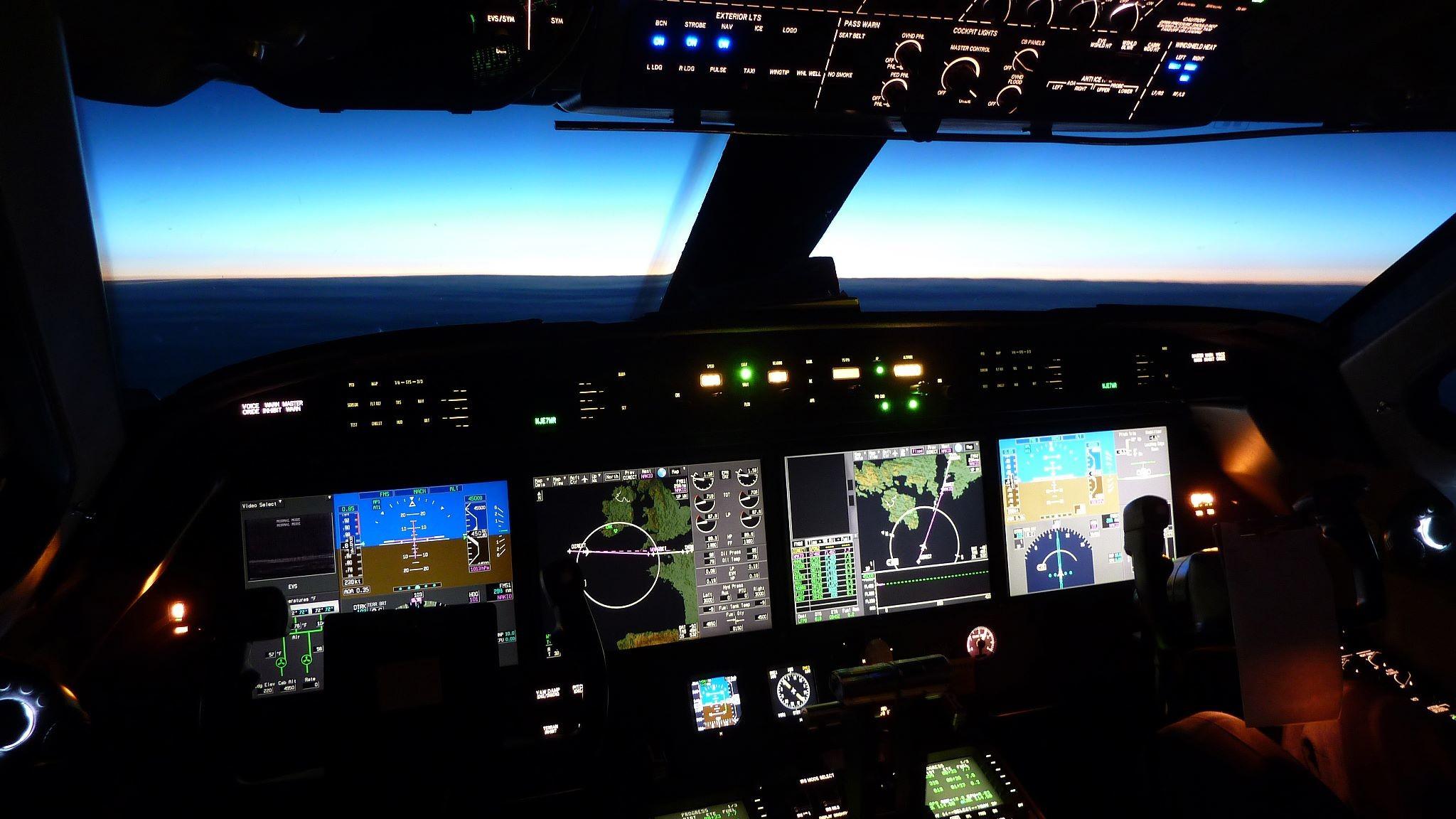Cockpit, Plane, Jet, Private Jet FBO, Teterboro Airport, TEB Airport,