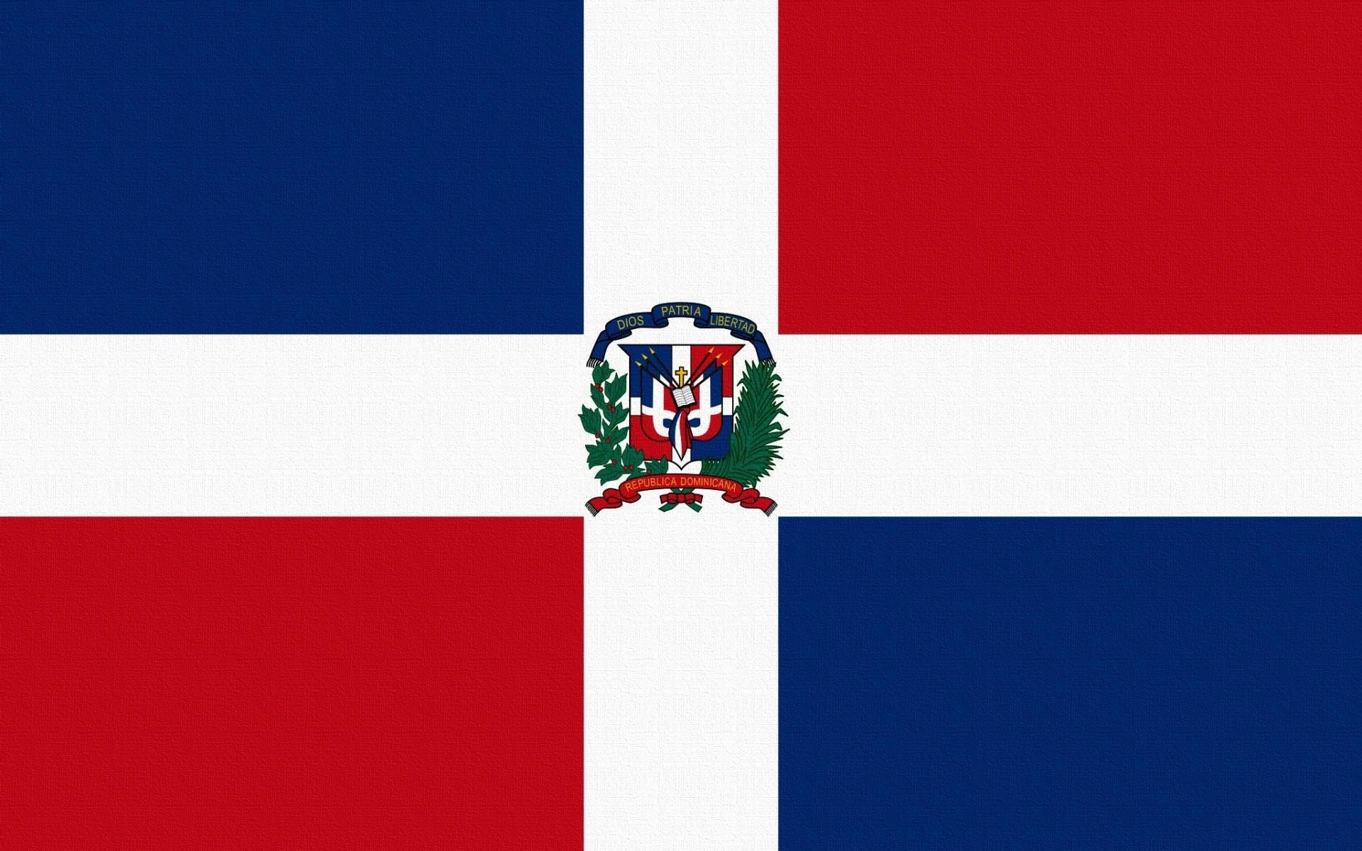 flag dominican republic dominican republic cross square red blue