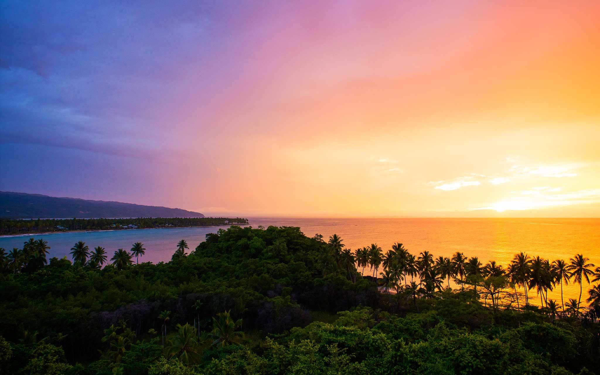 Las Terrenas Sunset Dominican Republic Wallpaper