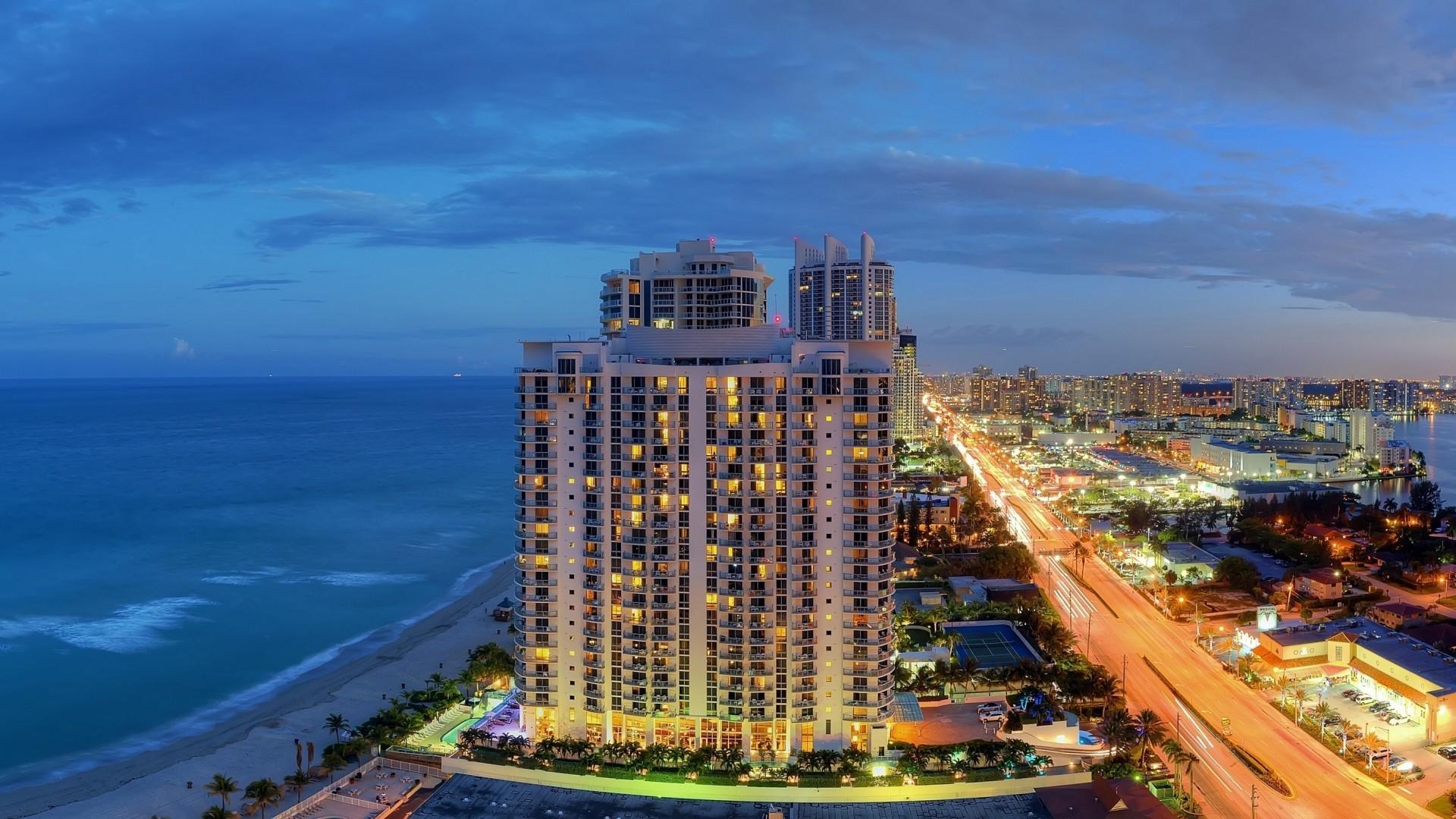 Preview wallpaper sunny isles beach, miami, florida, panorama, atlantic  coast, city