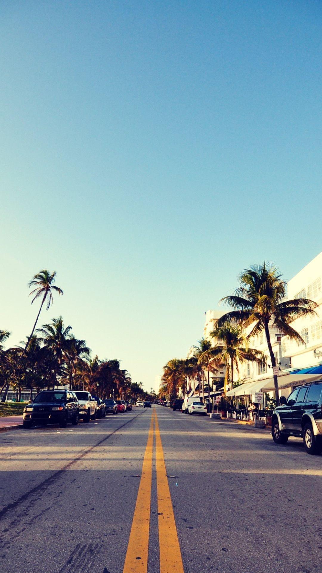 Florida, Miami City, South Beach Wallpaper iPhone 6 Plus .
