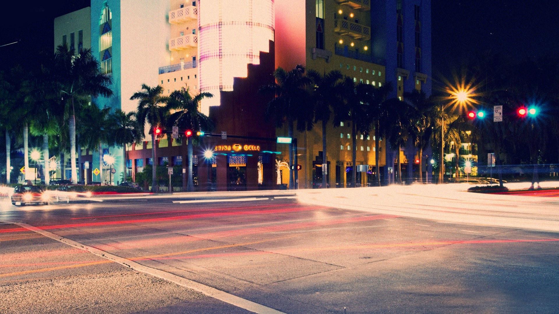 South Beach at night wallpaper #11971