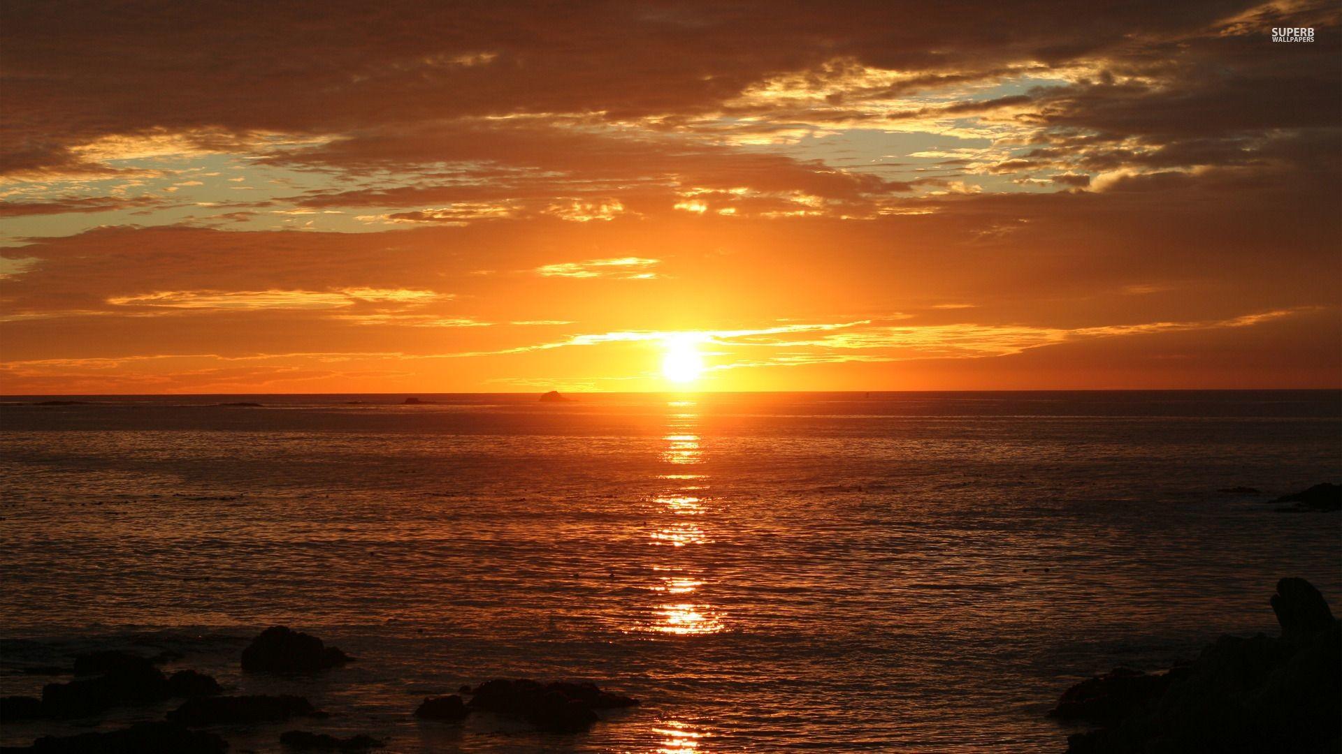 Miami beach sunrise : Desktop and mobile wallpaper : Wallippo