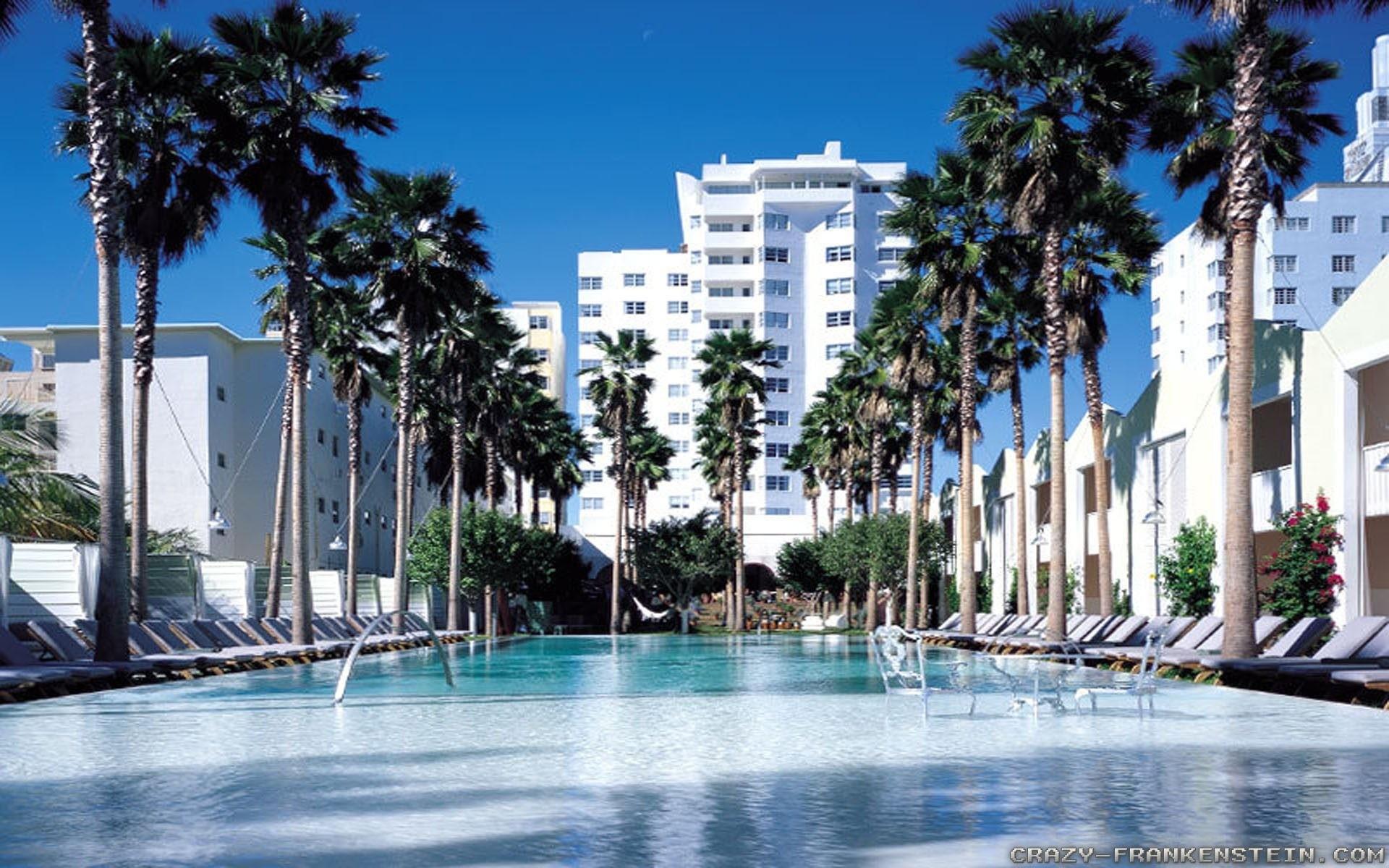 Miami Wallpapers: The City Skyline Across The Beach throughout Wallpaper  Miami : Foto Nakal CO