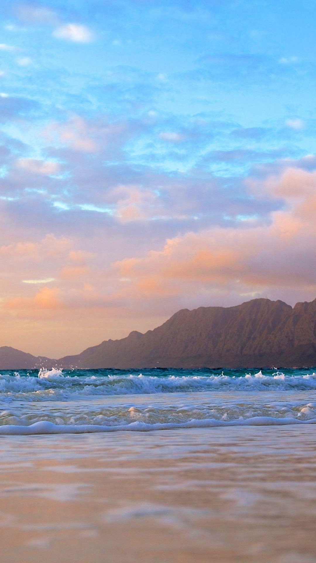 Mountains Background Beach Waves iPhone 6 Plus HD Wallpaper …