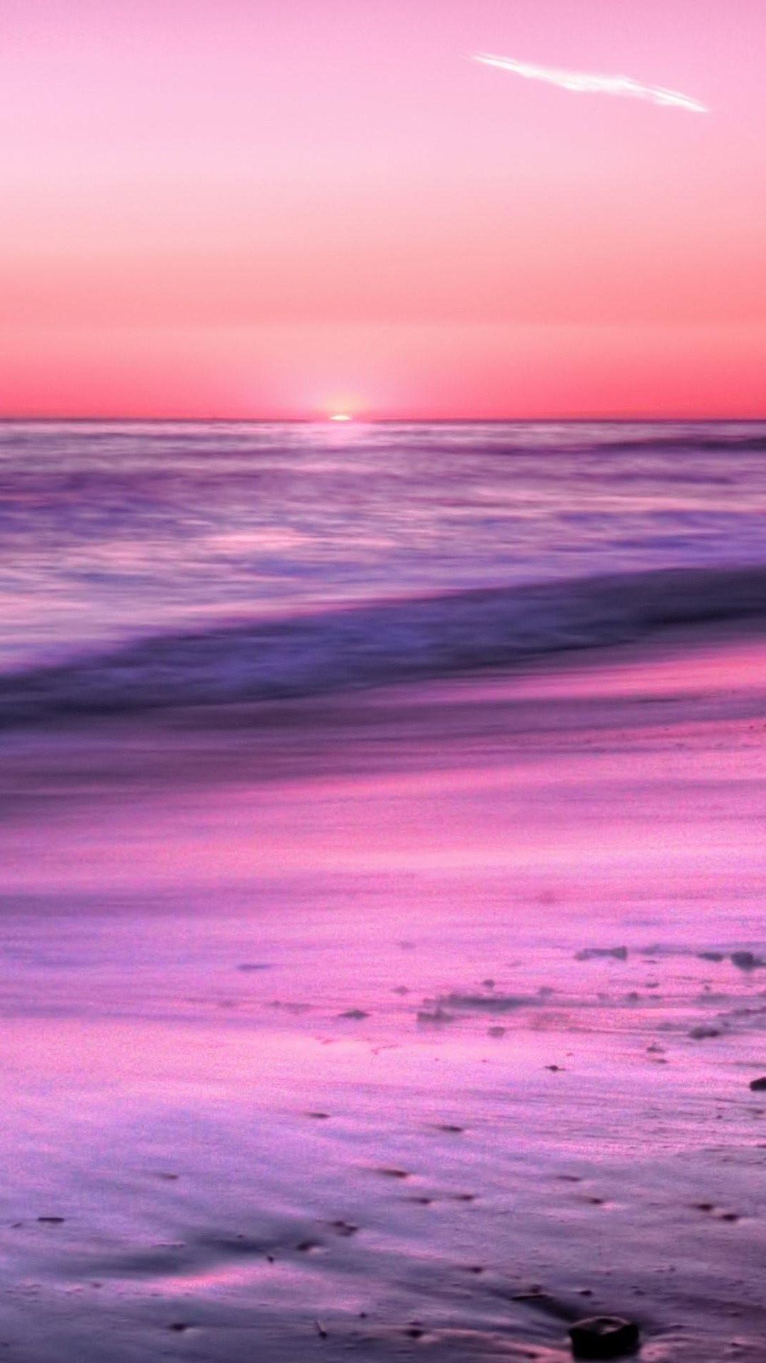 Nature iPhone 6 Plus Wallpapers – Sunrise Horizon Calm Sea Beach iPhone 6  Plus HD Wallpaper
