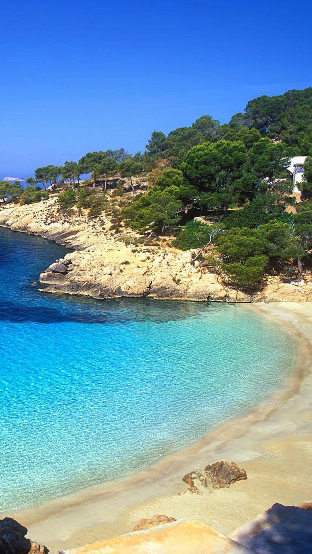 Ibiza Beach Landscape iPhone 6 Plus HD Wallpaper …