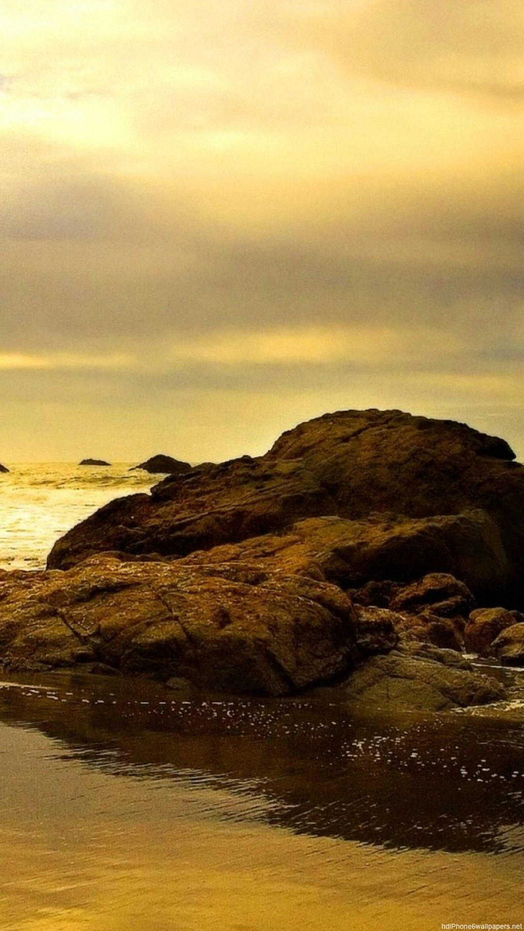 rock sea beach iPhone 6 wallpapers HD – 6 Plus backgrounds