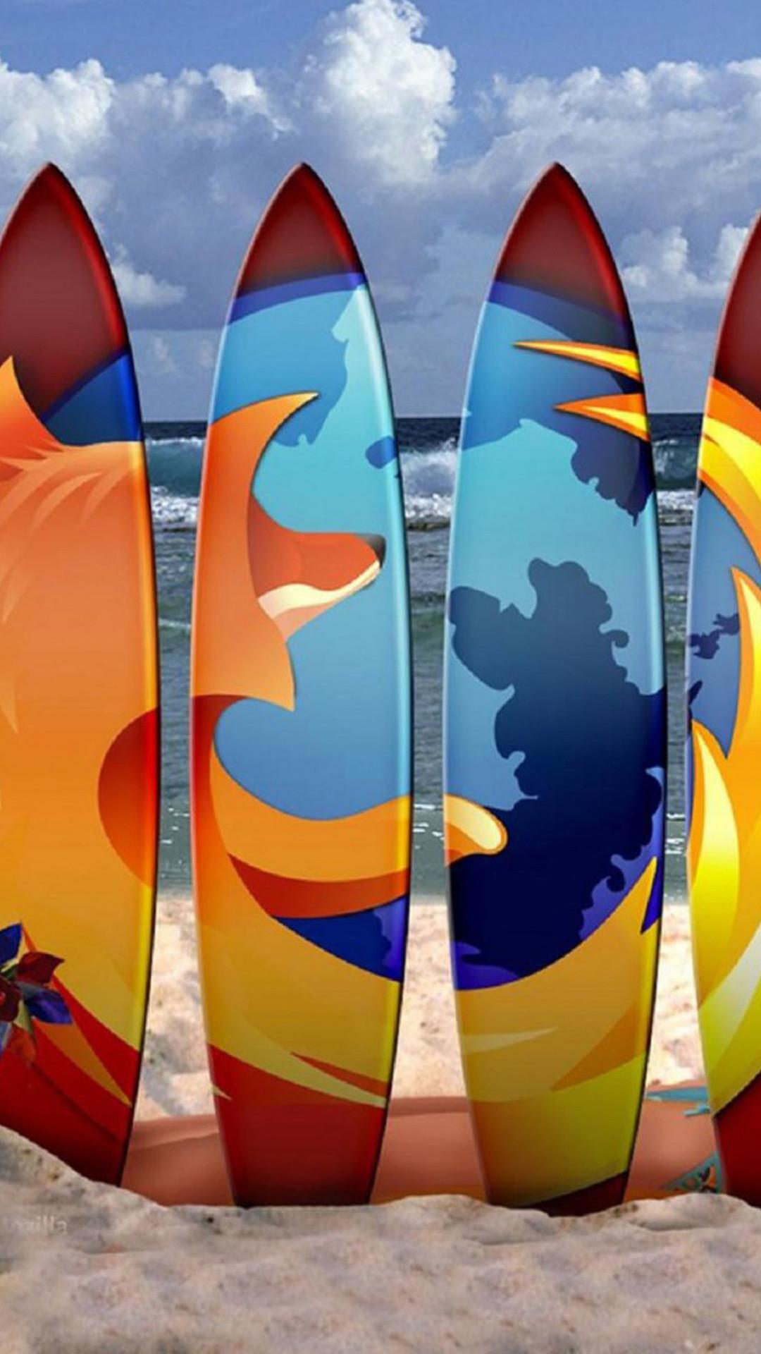 Firefox Surf Boards Beach iPhone 6 Plus HD Wallpaper …