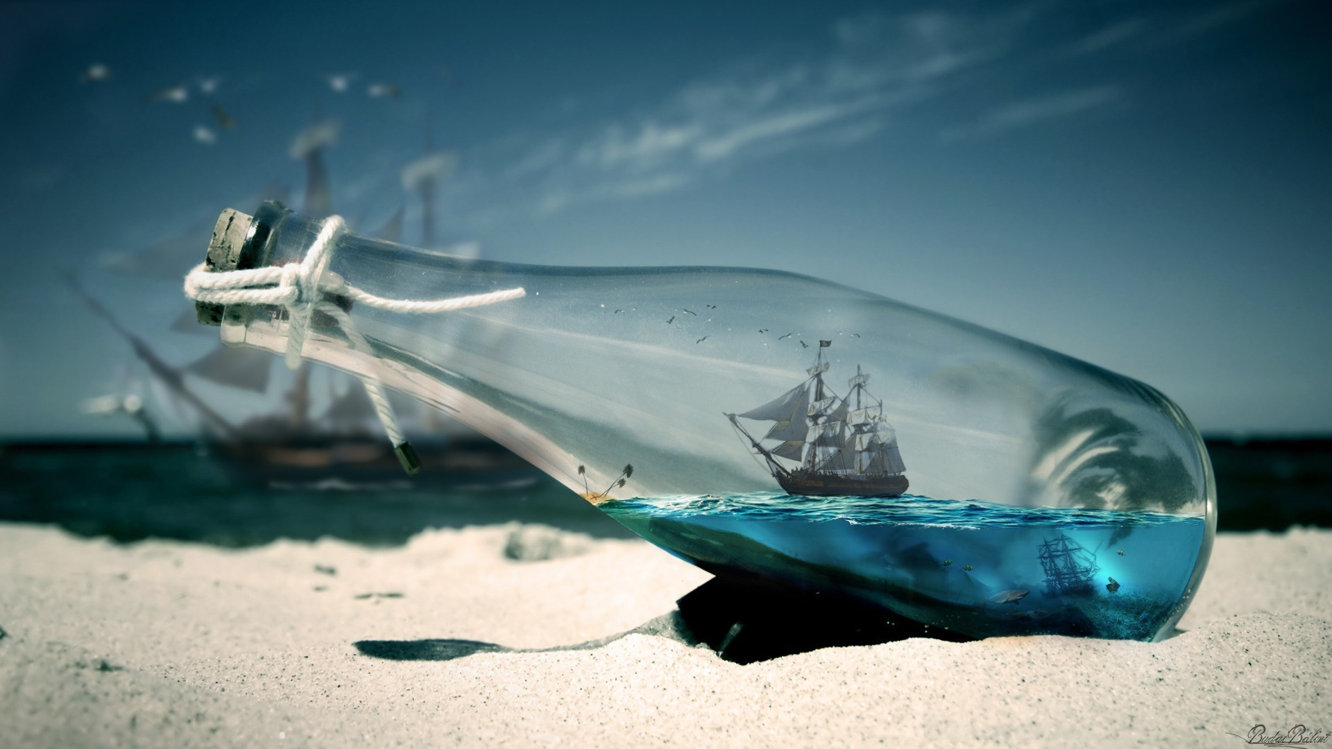 water sea bottles ships Pirates of the Caribbean – Wallpaper (#1664888) /  Wallbase