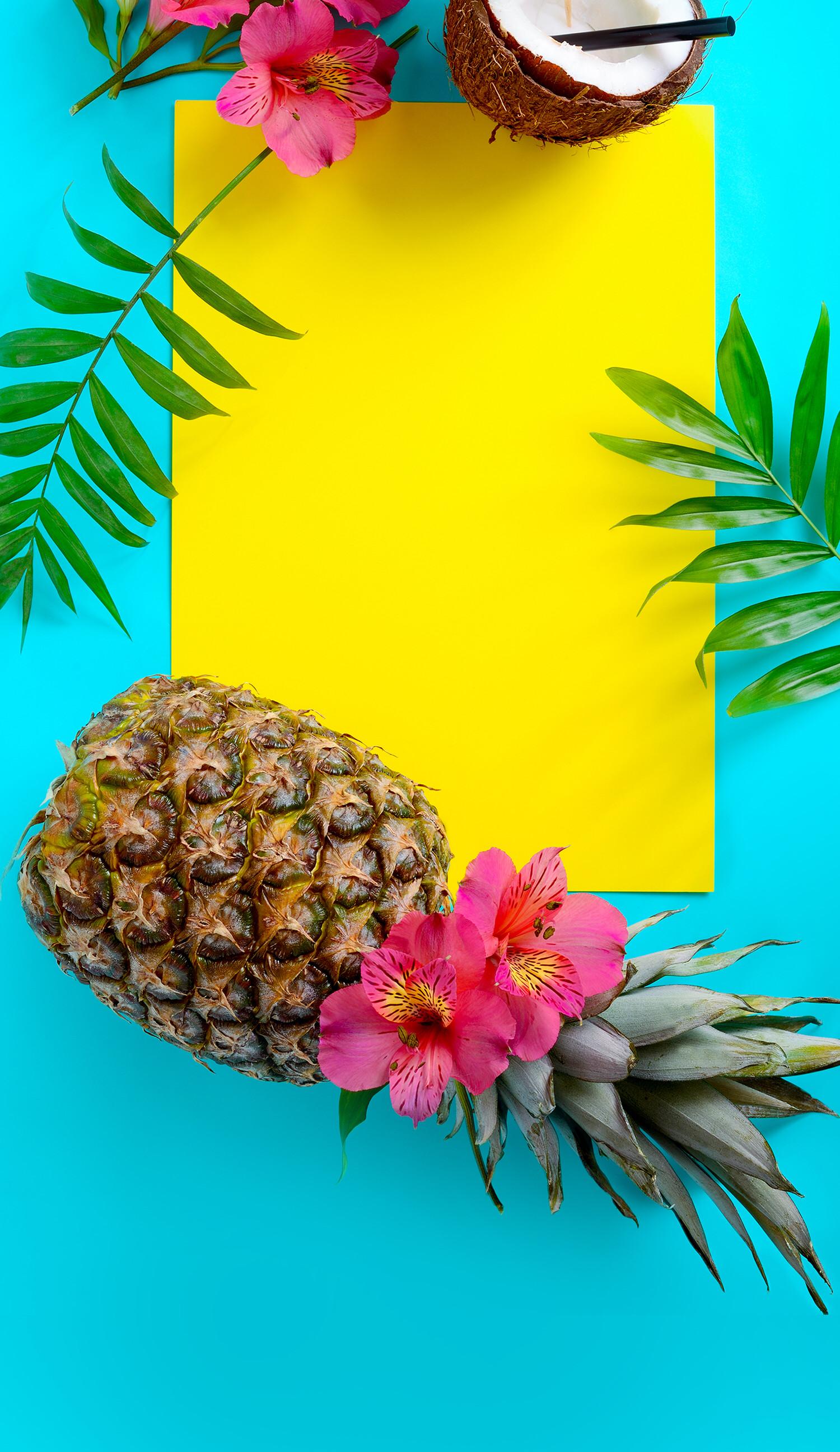 Summer Wallpaper, Iphone Wallpaper, Tropical, Fruit, Wallpapers, Kawaii,  Beautiful Backgrounds, Signboards