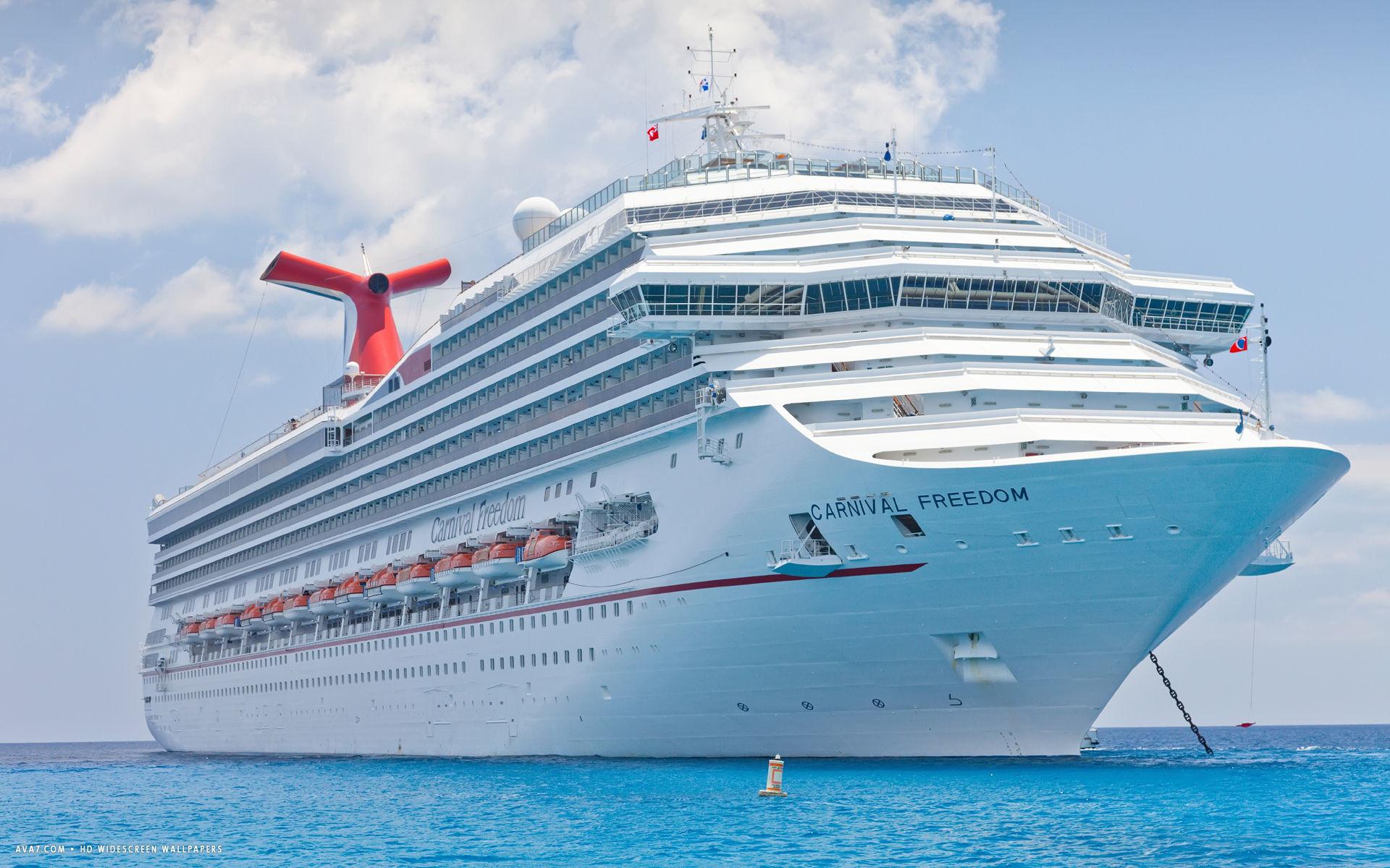 carnival freedom cruise ship hd widescreen wallpaper