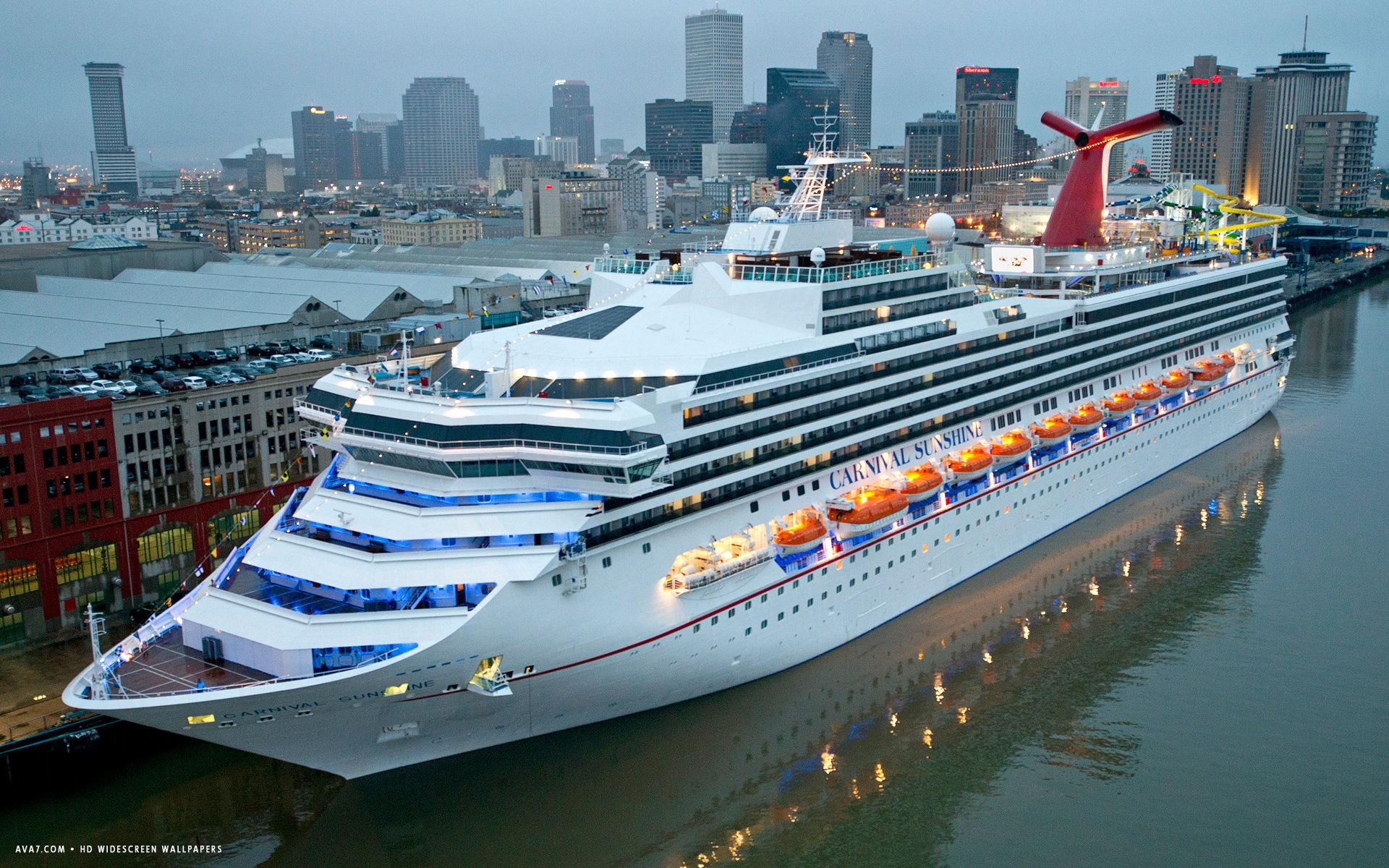 carnival sunshine cruise ship hd widescreen wallpaper