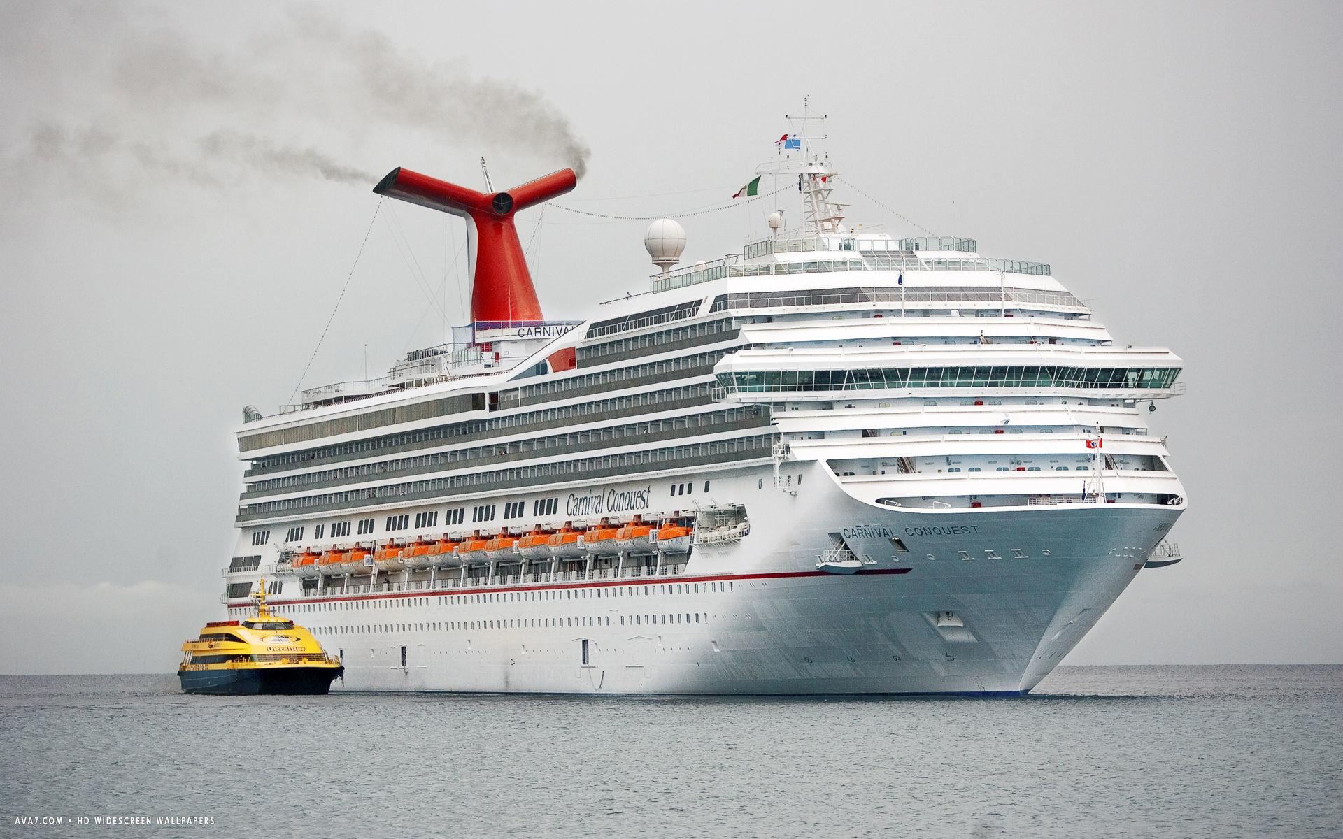 carnival conquest cruise ship hd widescreen wallpaper