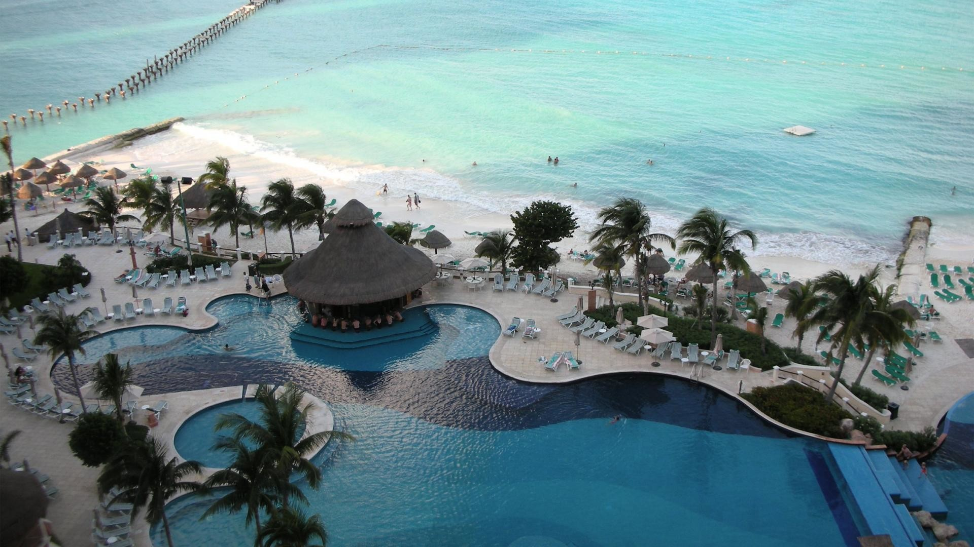 Cancun Mexico Beach Resort HD Wallpaper