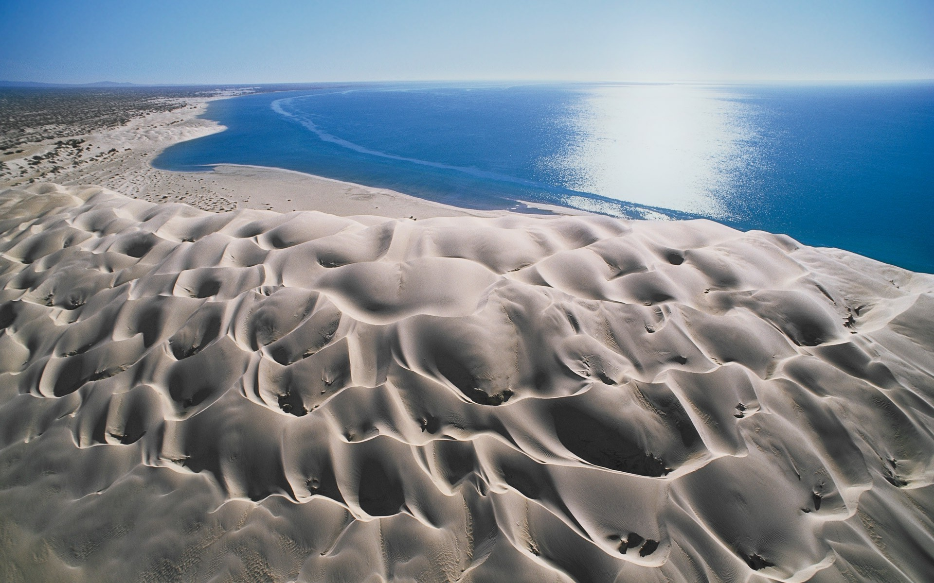 landscape, Beach, Nature, Dune, Sea, Sand, Baja California, Wind, Erosion,  Water, Blue, Mexico Wallpapers HD / Desktop and Mobile Backgrounds