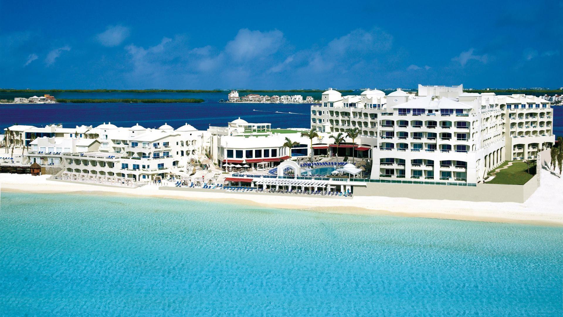 Mexico Cancun Beach Resort HD Wallpaper