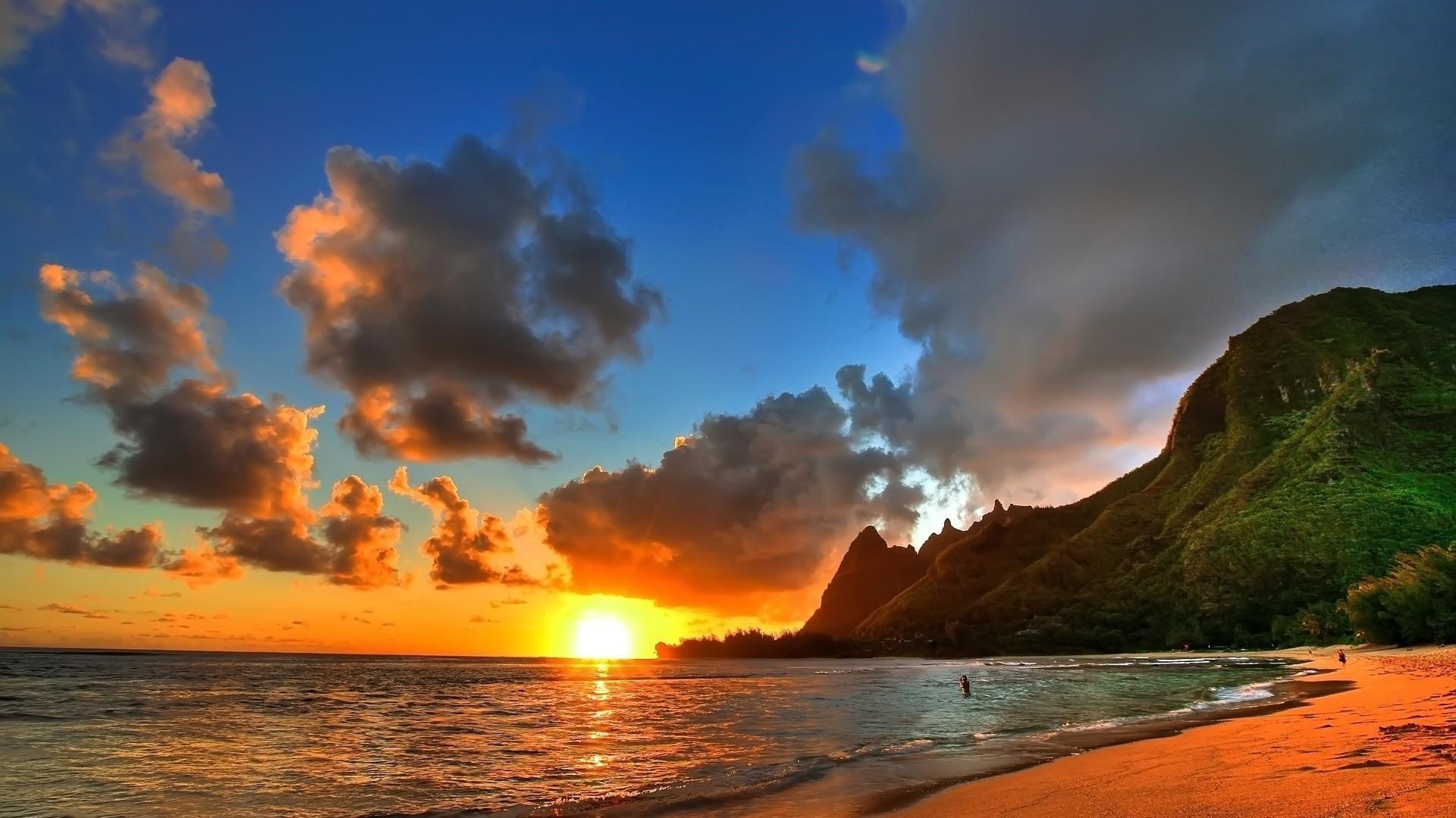 Wallpapers Beach Sunset 1080p For Desktop High Definition Wallpapers .