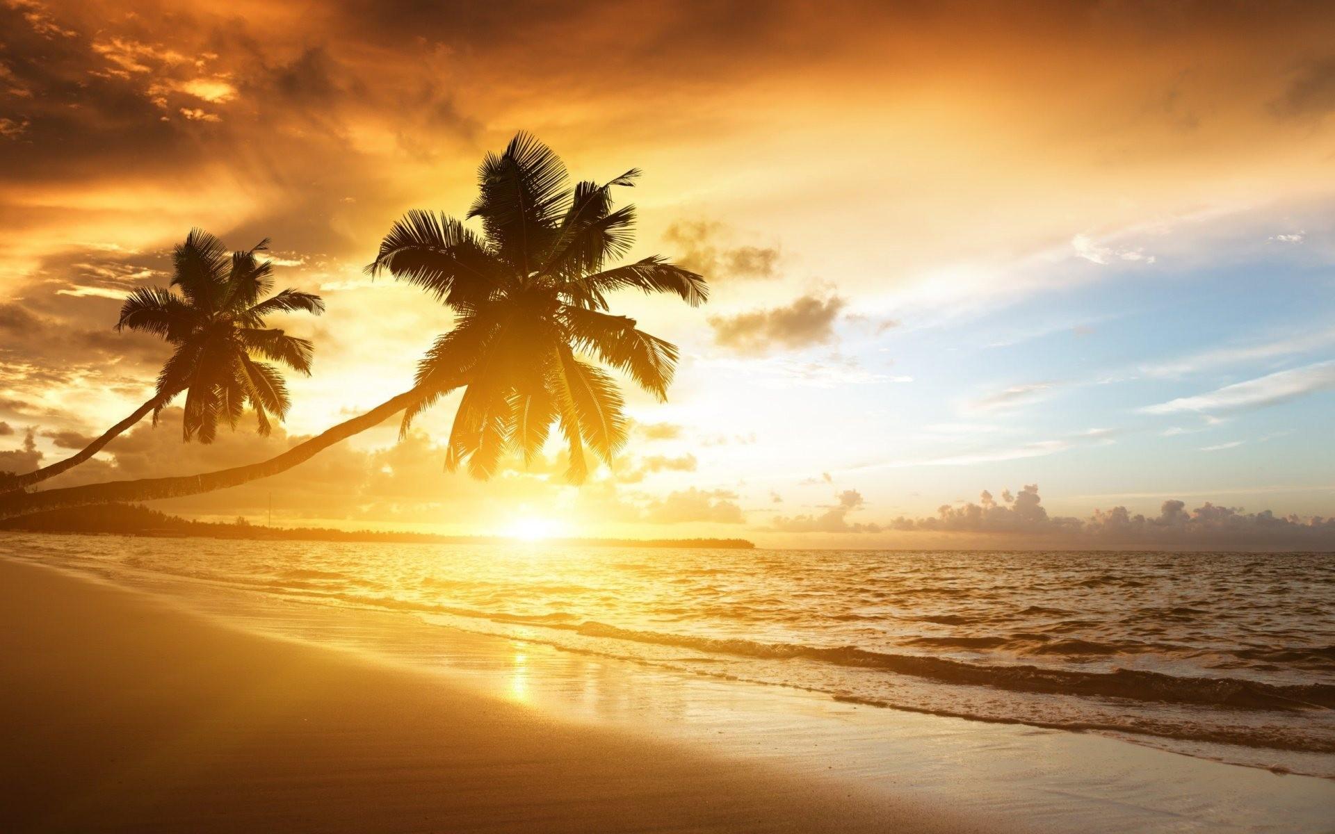 Beach Sunset Wallpapers High Definition As Wallpaper HD