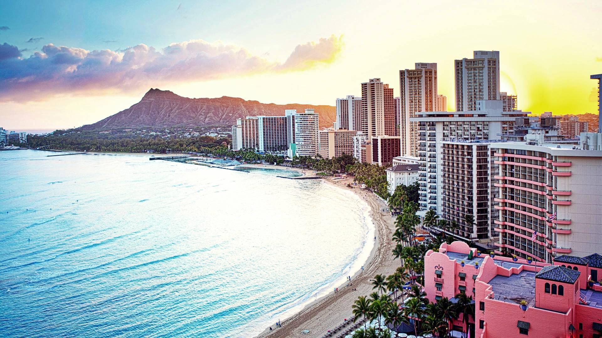 Waikiki Beach HD desktop wallpaper : High Definition : Mobile