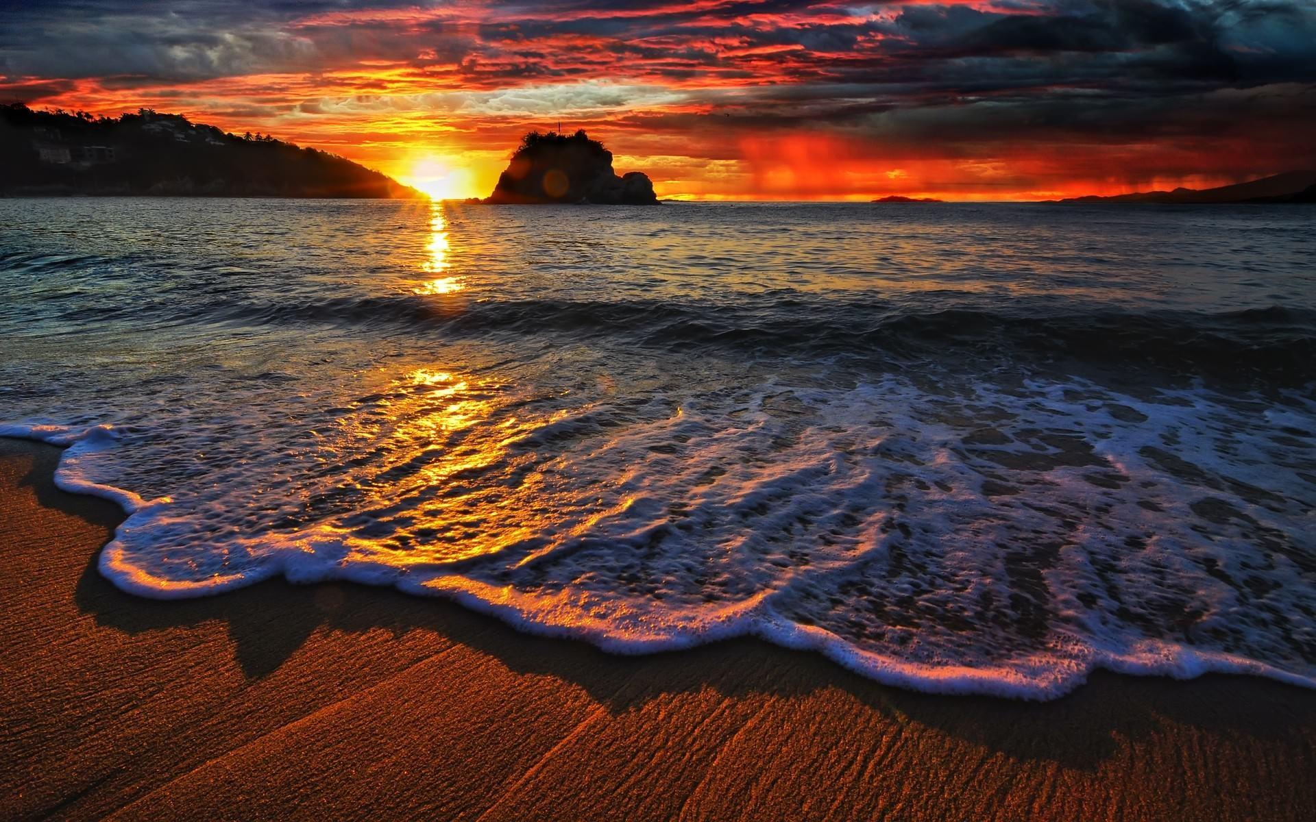 Beach Sunset Wallpapers High Resolution As Wallpaper HD
