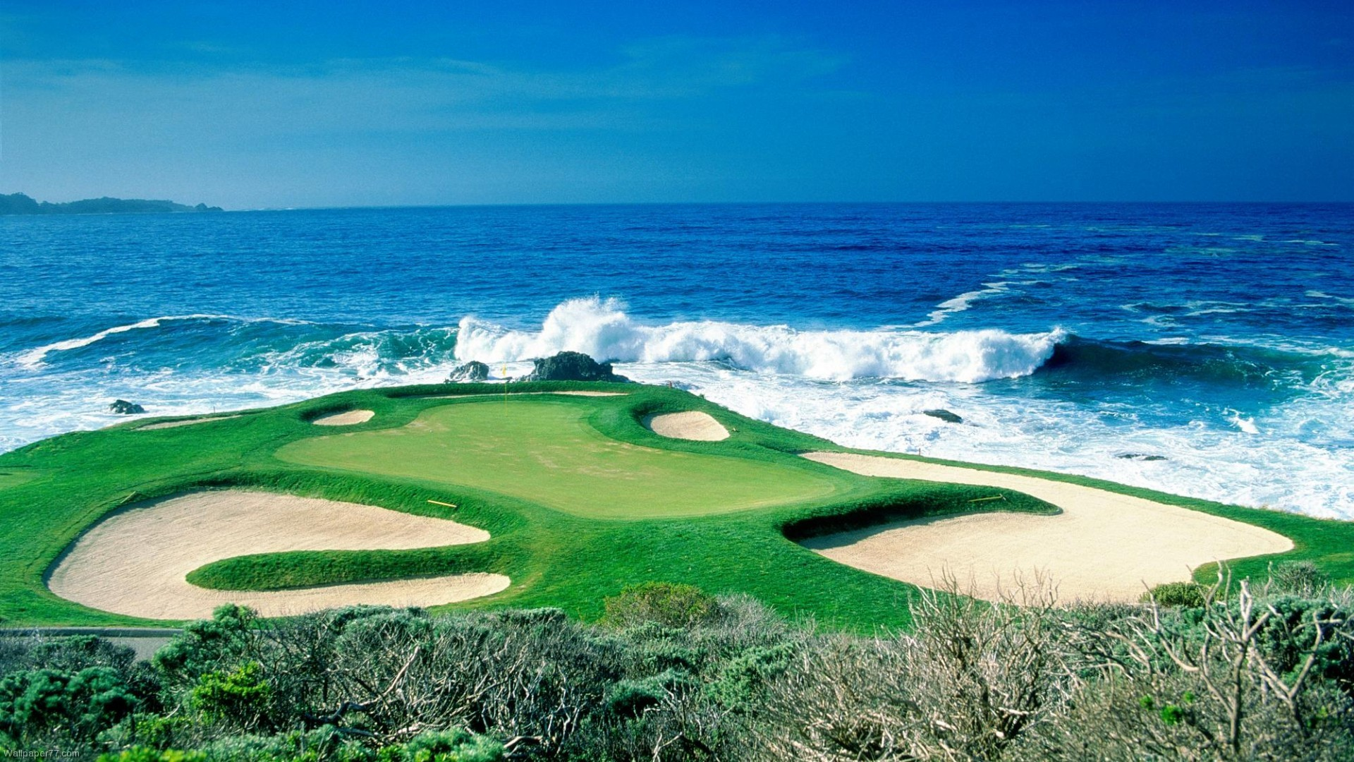 Pebble Beach Golf Course – This hole is one to remember.