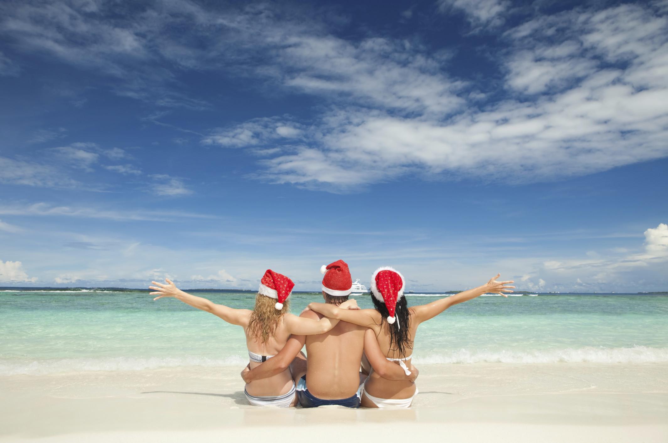 Beach Christmas Wallpaper Free Desktop